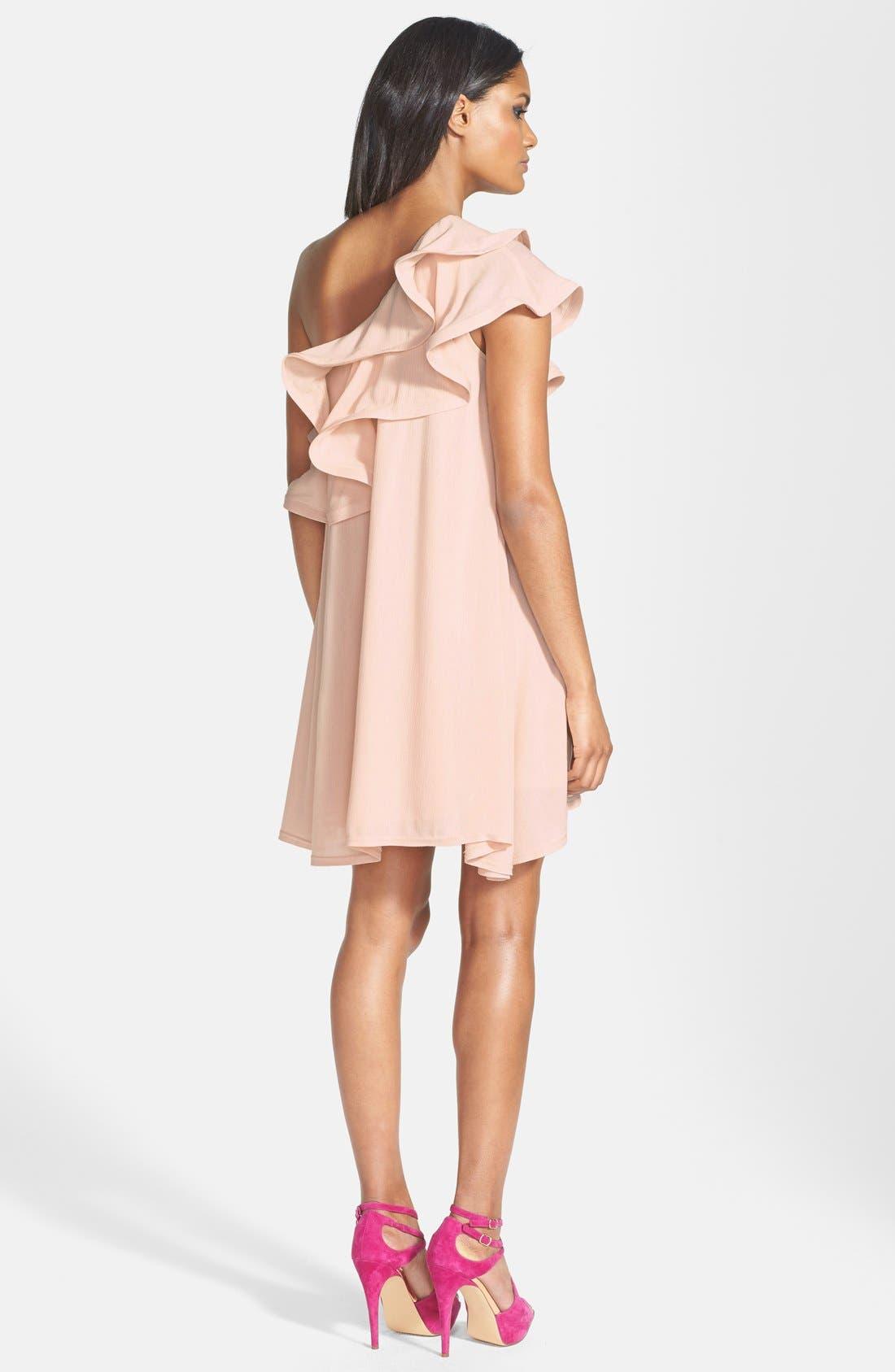 Alternate Image 2  - Dirty Ballerina Ruffle One-Shoulder Dress