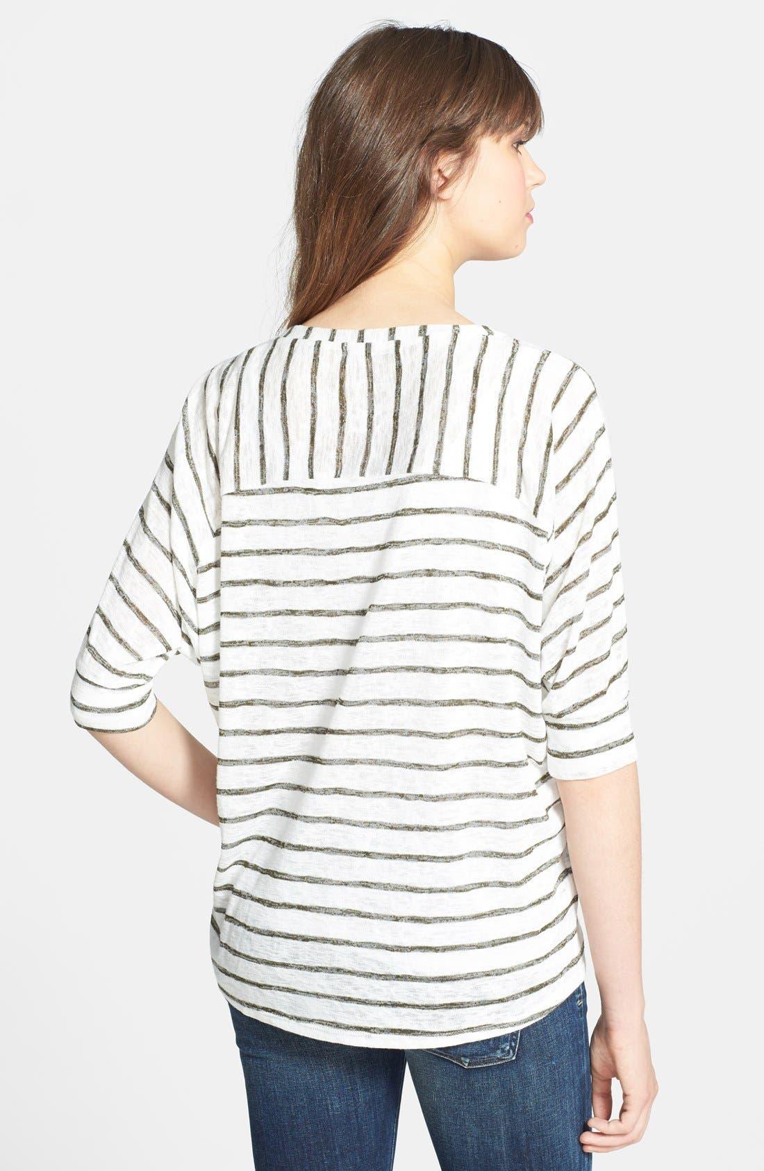 Alternate Image 2  - Olivia Moon Stripe Dolman Sleeve Sweater