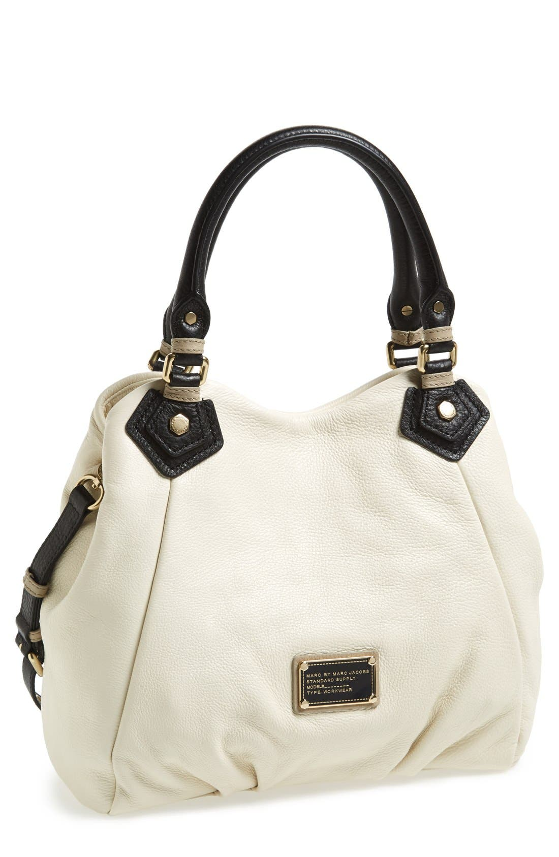 Alternate Image 1 Selected - MARC BY MARC JACOBS 'Classic Q - Fran' Colorblock Leather Shopper