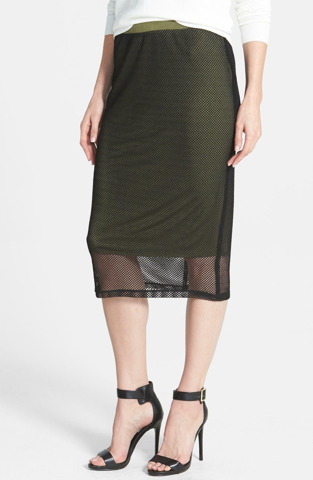 Main Image - Bobeau Crochet Mesh Skirt