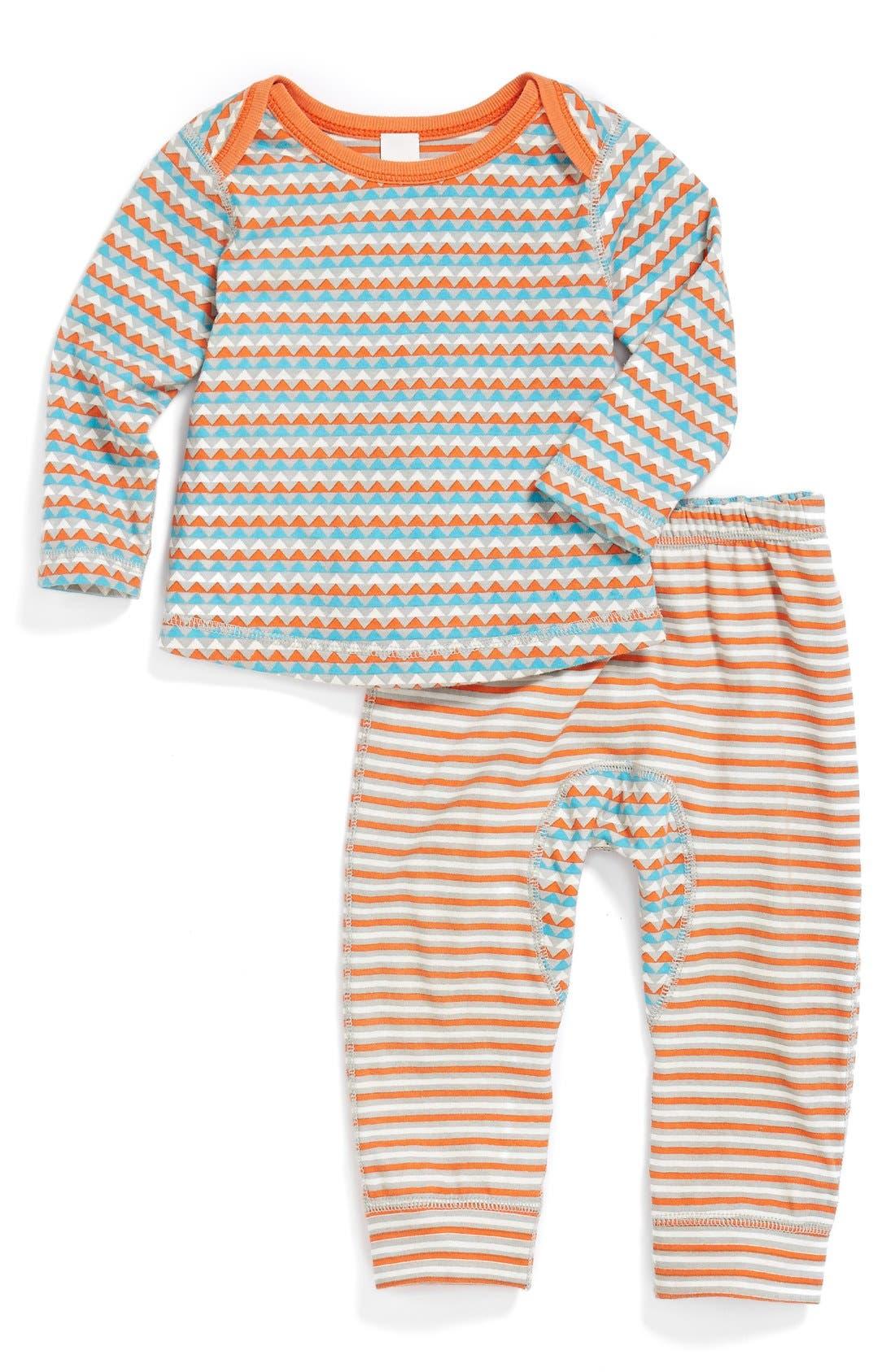 Main Image - Stem Baby Reversible Organic Cotton T-Shirt & Pants (Baby Boys) (Nordstrom Exclusive)