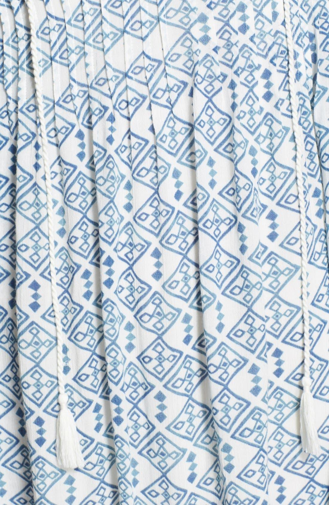 Alternate Image 3  - Free People 'Marlow' Print Pintuck Pleat Shift Dress