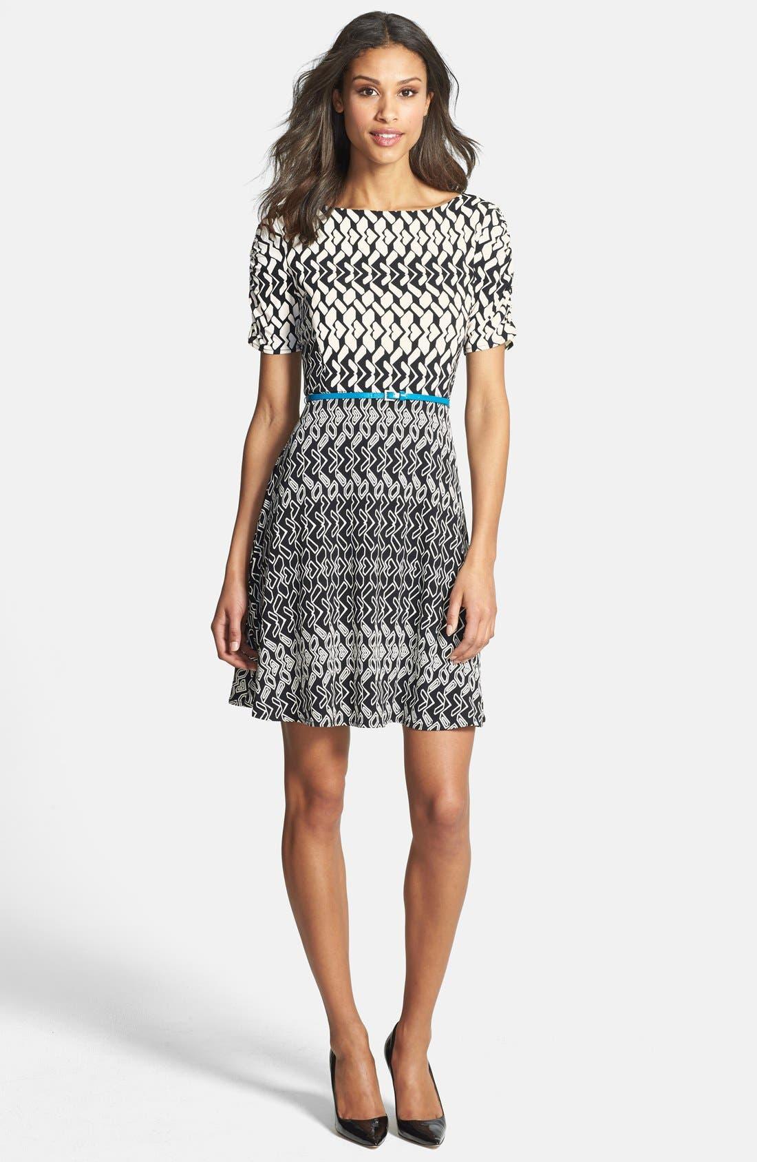 Alternate Image 3  - Donna Morgan Print Fit & Flare Jersey Dress (Regular & Petite)
