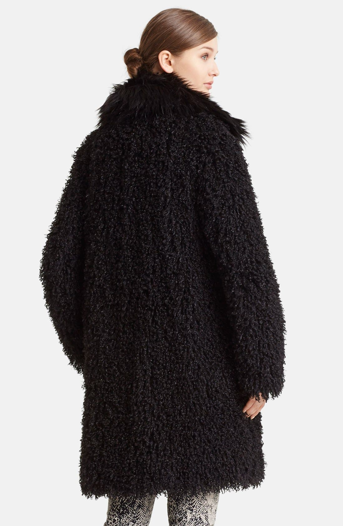 Alternate Image 2  - Lanvin Faux Mongolian Fur Coat