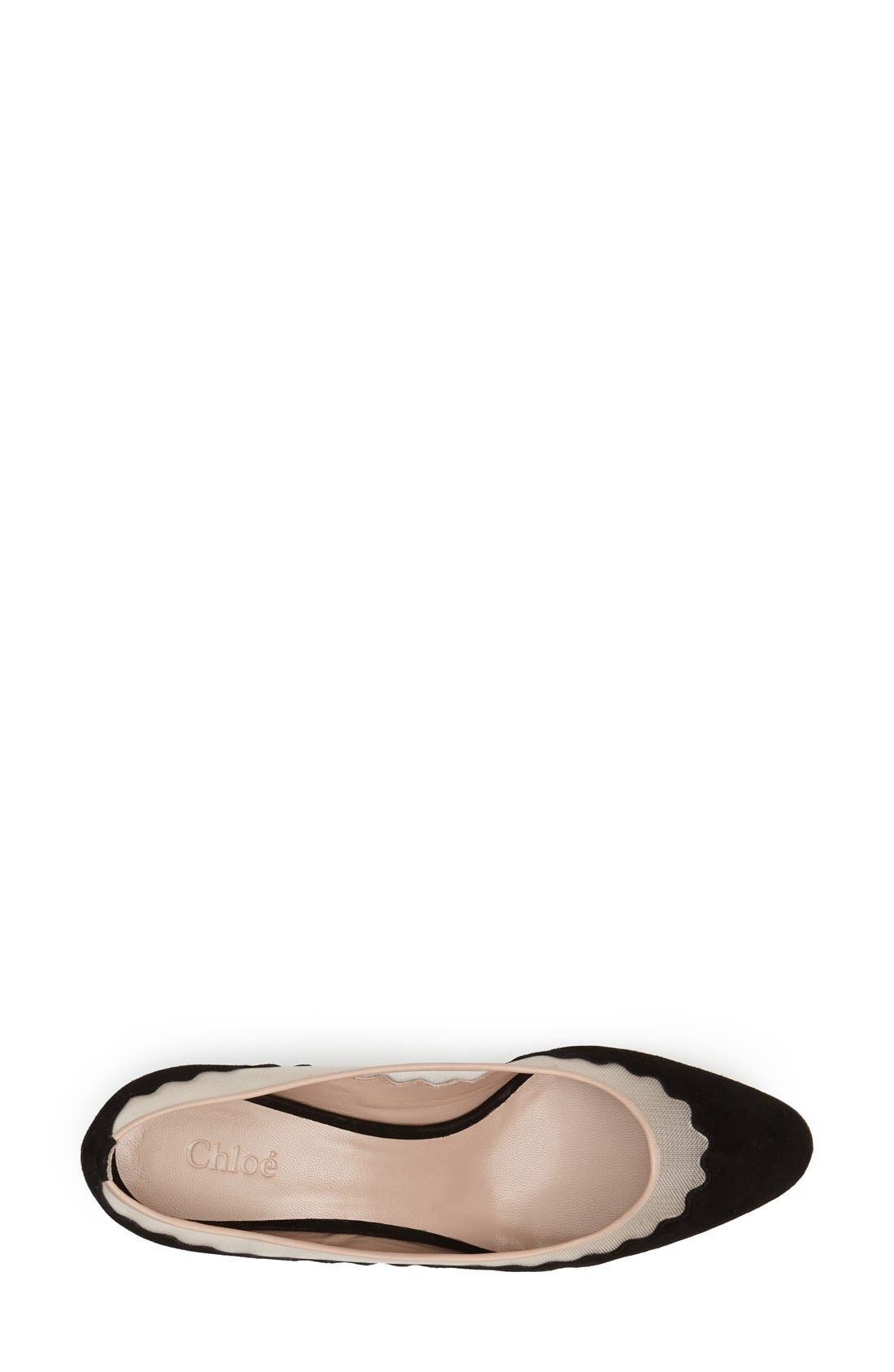 Alternate Image 3  - Chloé 'Bridget' Scalloped Almond Toe Pump (Women)