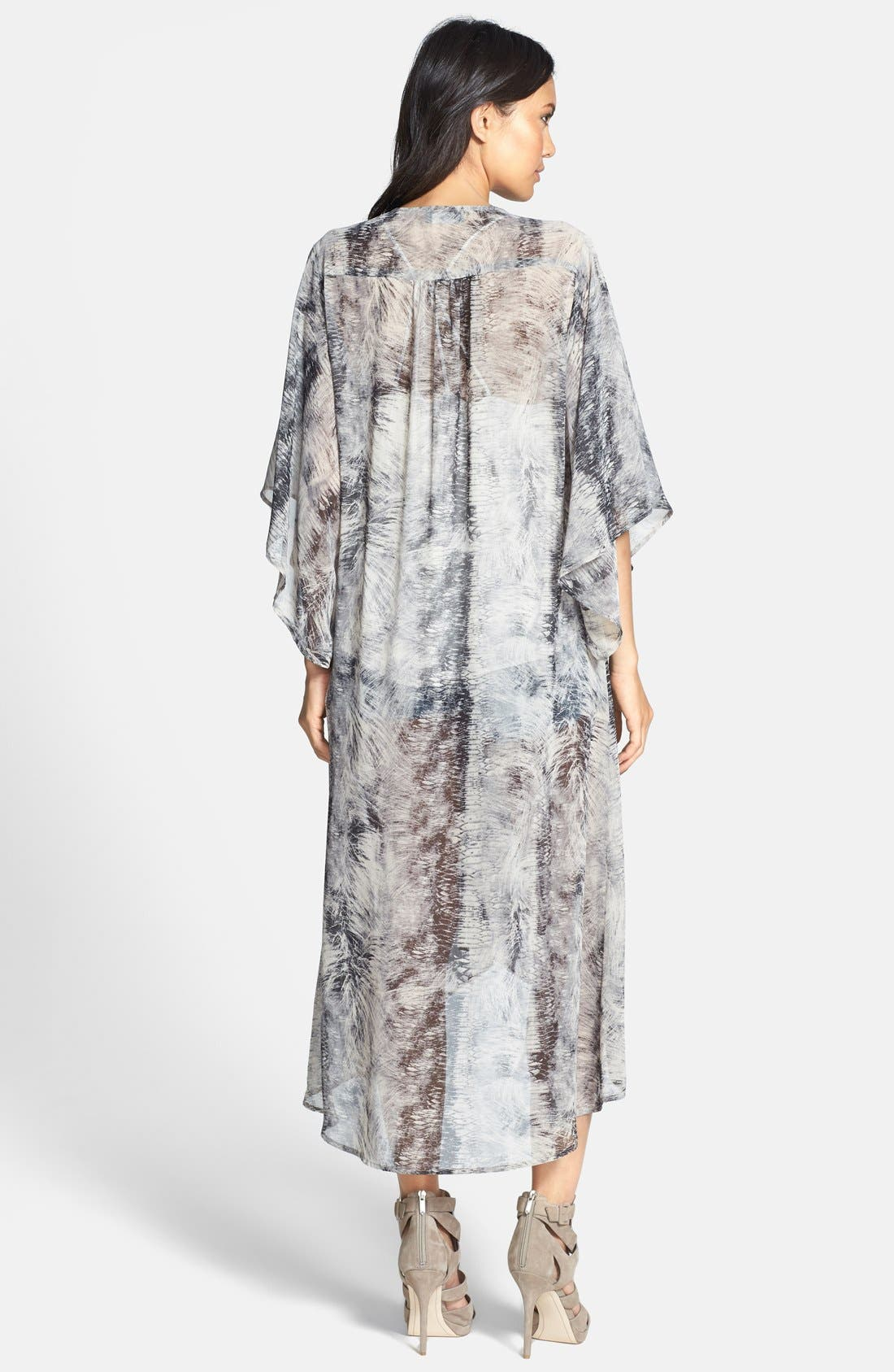 Alternate Image 2  - ASTR Print Duster Kimono Cardigan