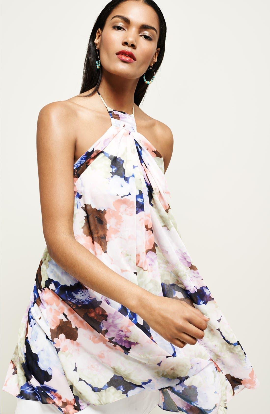 Alternate Image 6  - 1.STATE Floral Print Halter Dress