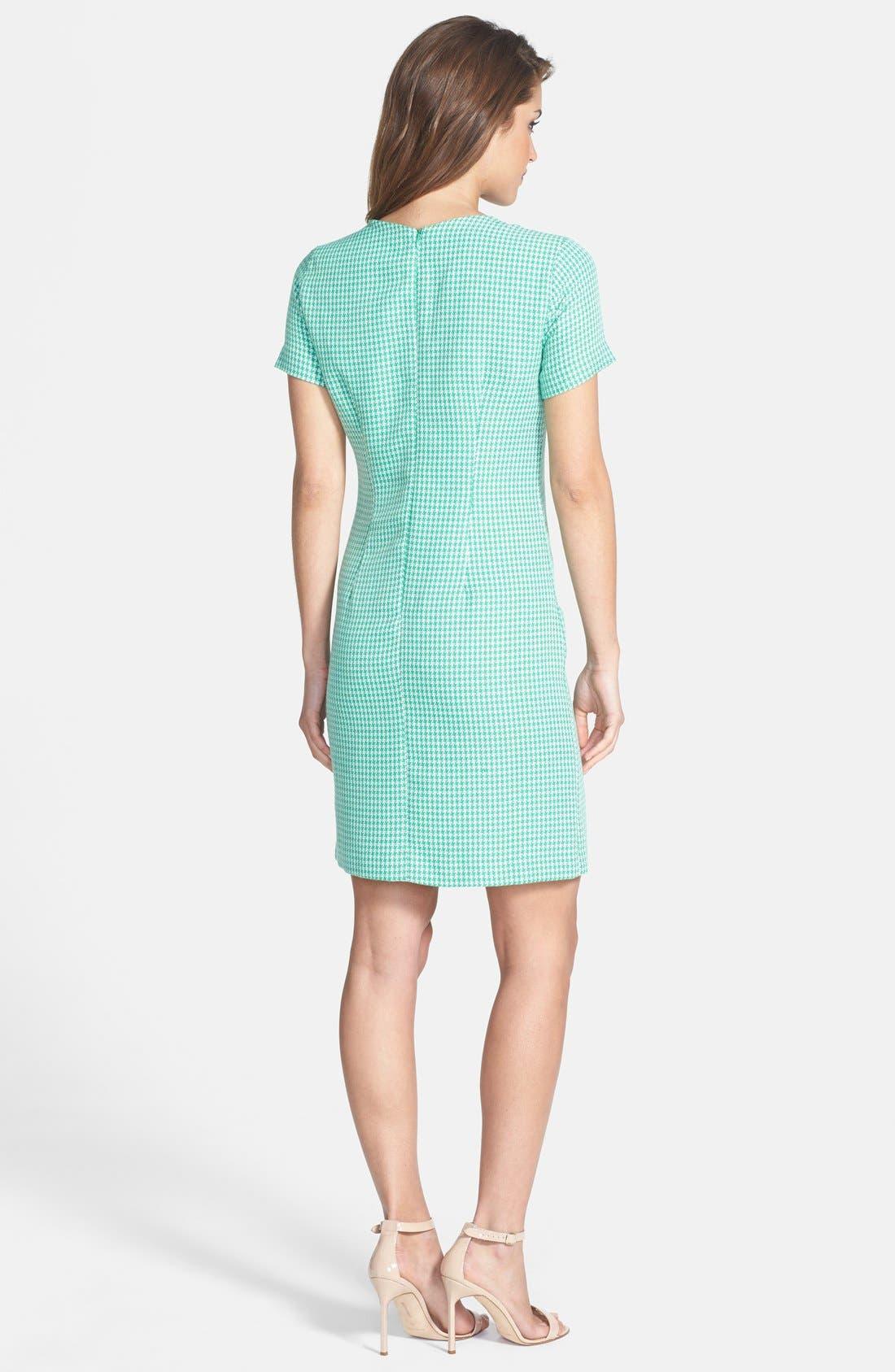 Alternate Image 2  - Ivy & Blu Crochet Panel Tweed Shift Dress
