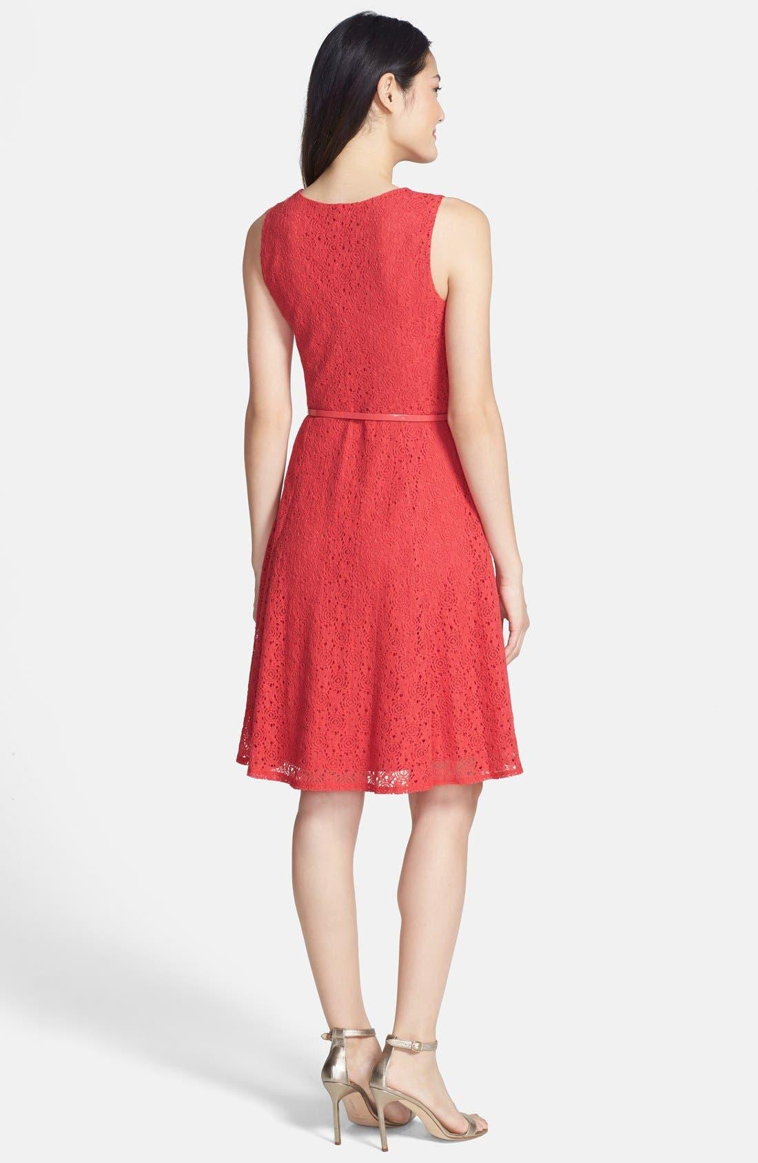 Alternate Image 2  - wallis Lace Fit & Flare Dress