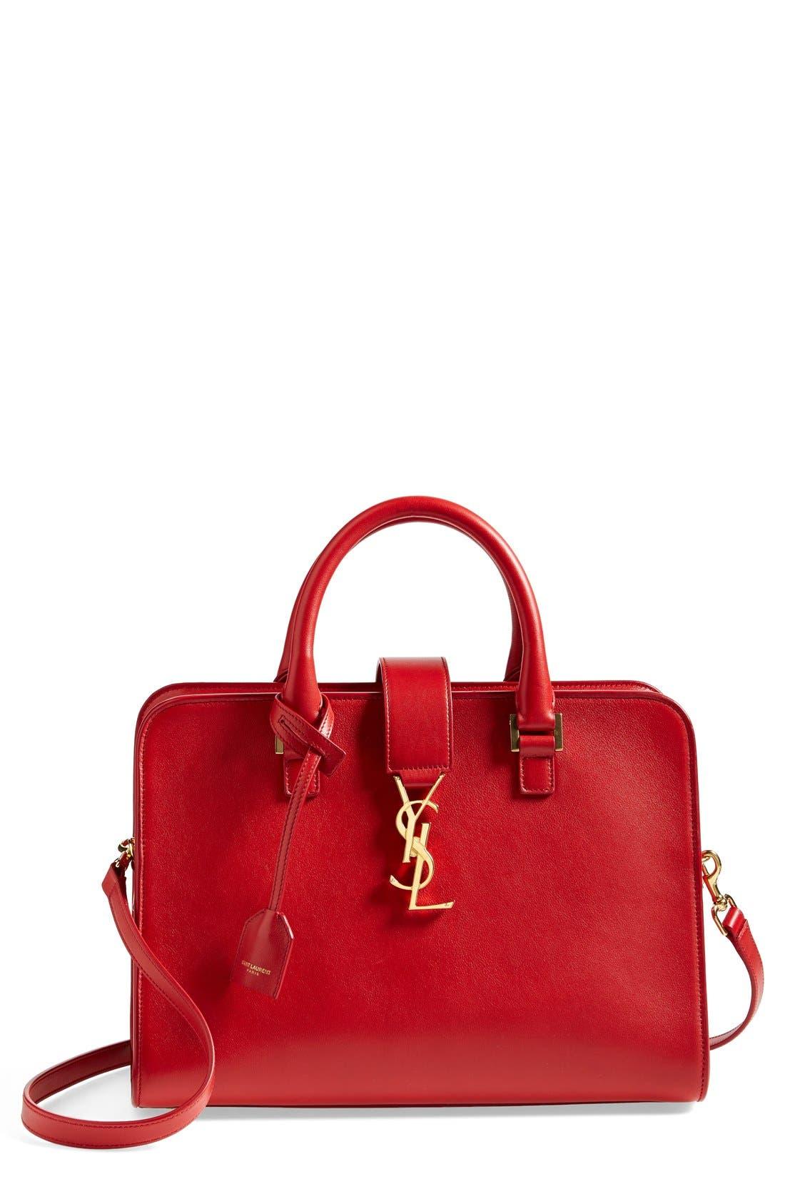 Main Image - Saint Laurent 'Small Cabas' Leather Satchel
