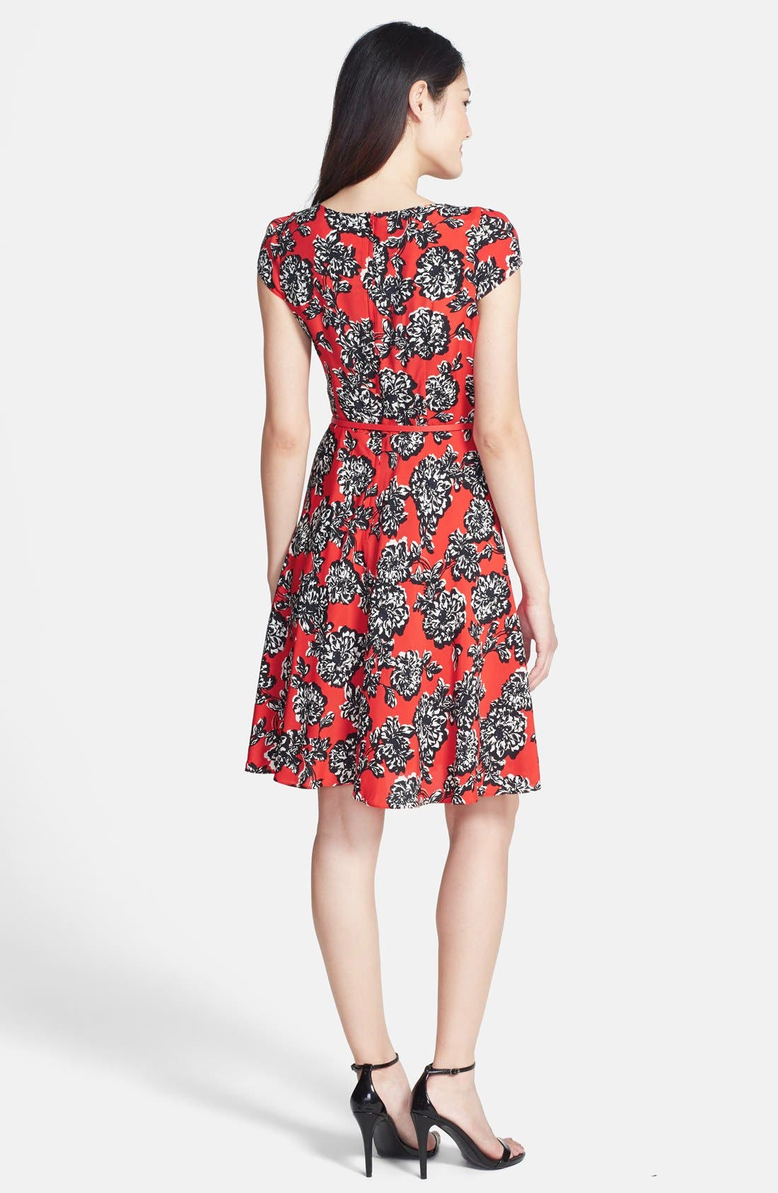 Alternate Image 2  - Wallis Floral Print Fit & Flare Dress