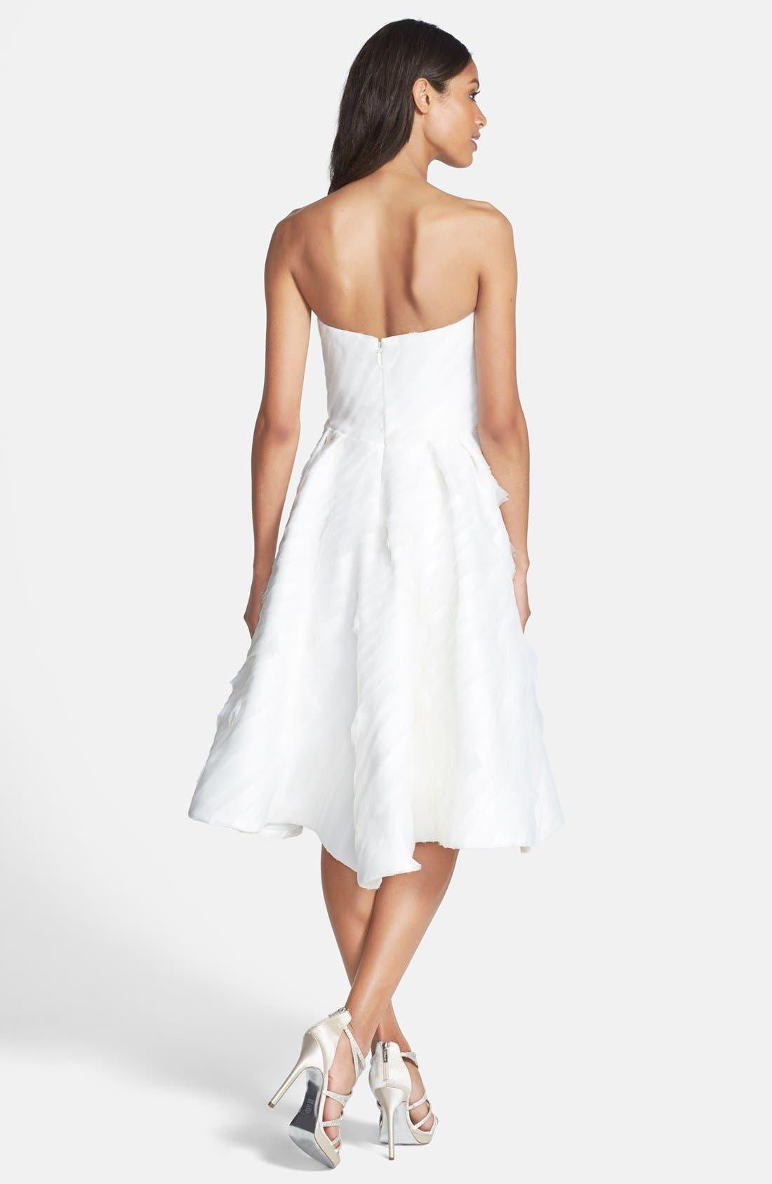 Alternate Image 2  - Kirstie Kelly Strapless Laser Cut Organza Dress