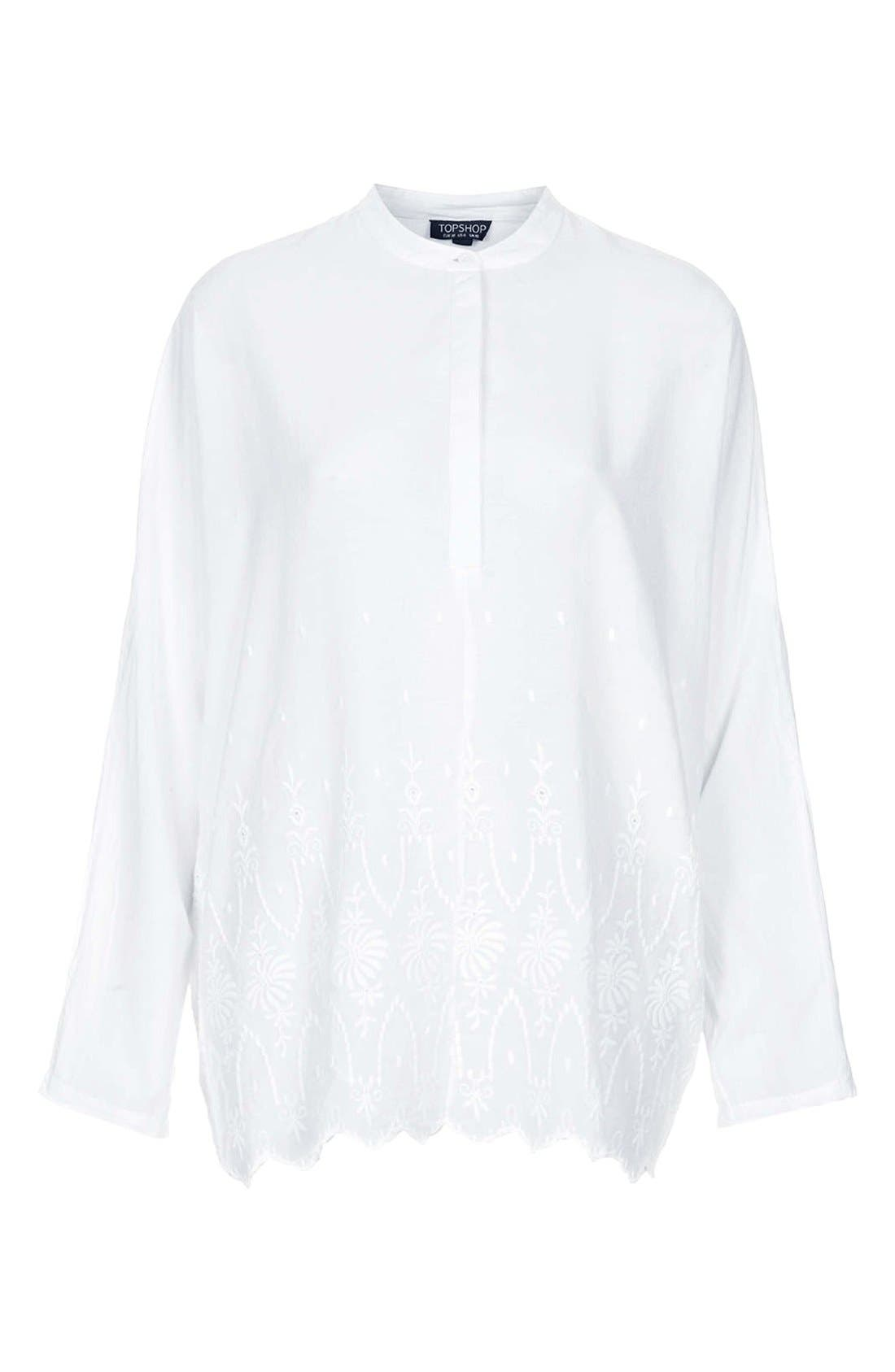 Alternate Image 3  - Topshop Embroidered Oversized Shirt