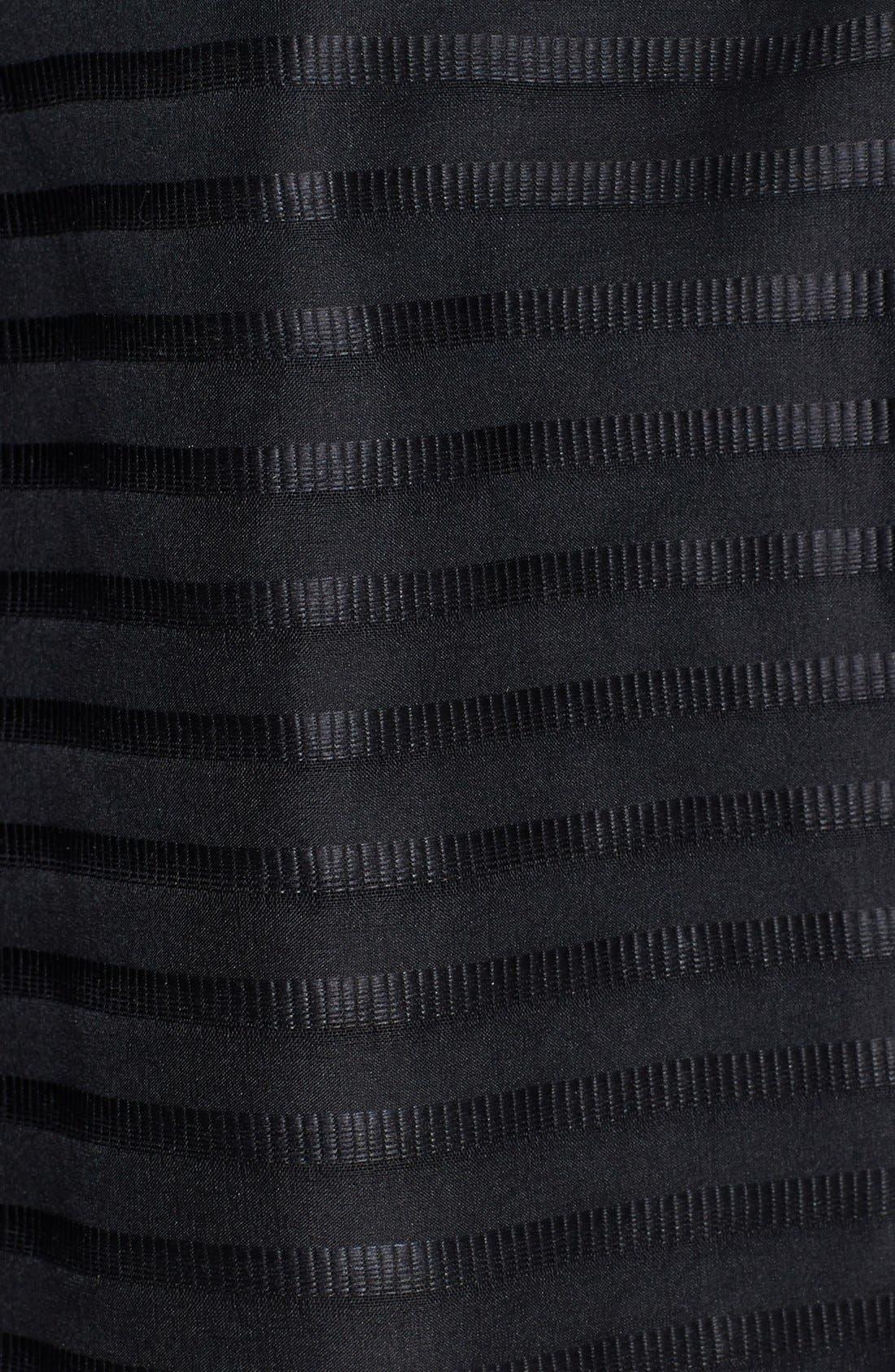 Alternate Image 4  - Shoshanna 'Chelsea' Ribbon Stripe Silk Organza Fit & Flare Dress