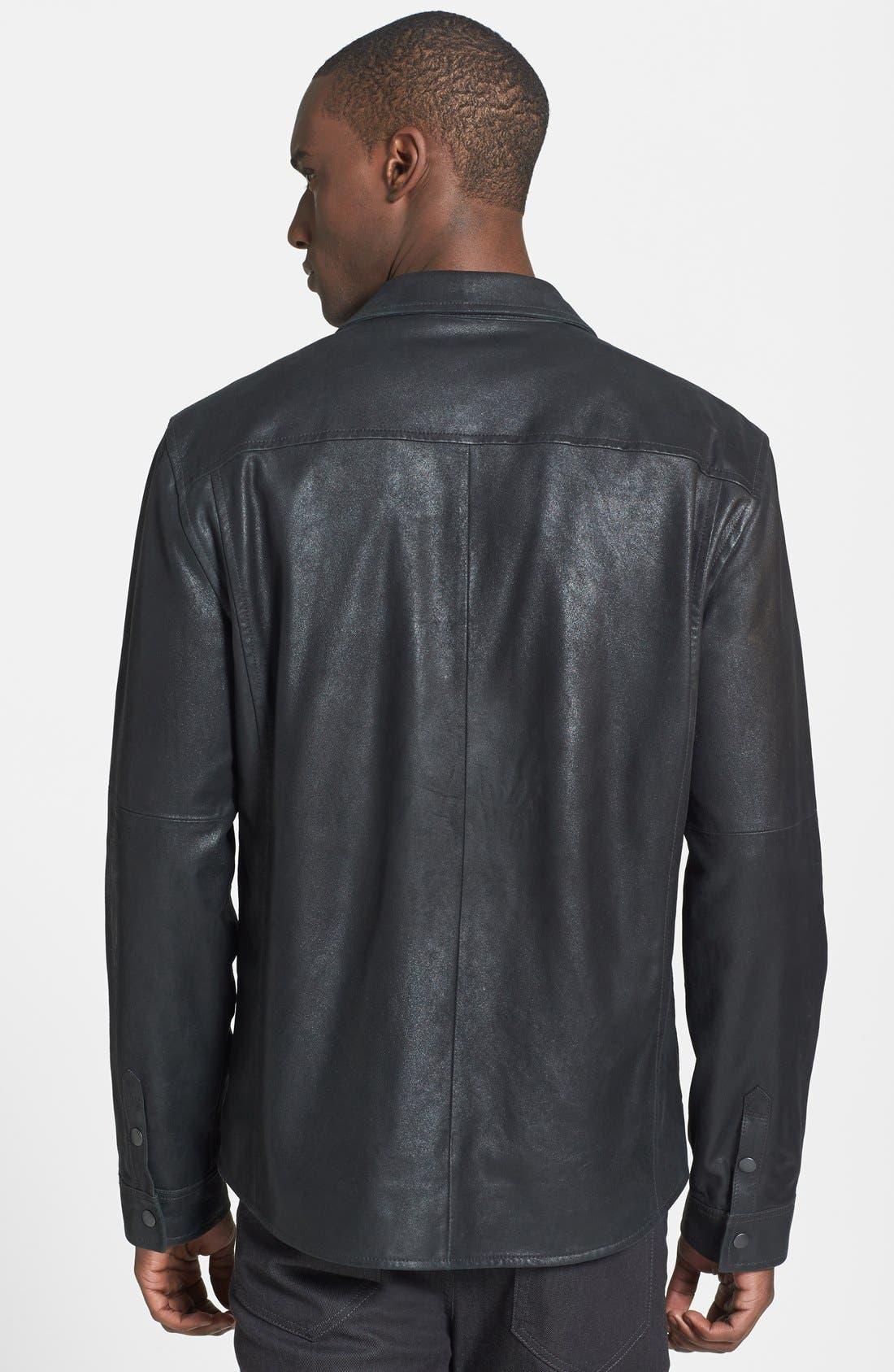Alternate Image 2  - John Varvatos Star USA Slim Fit Leather Shirt Jacket