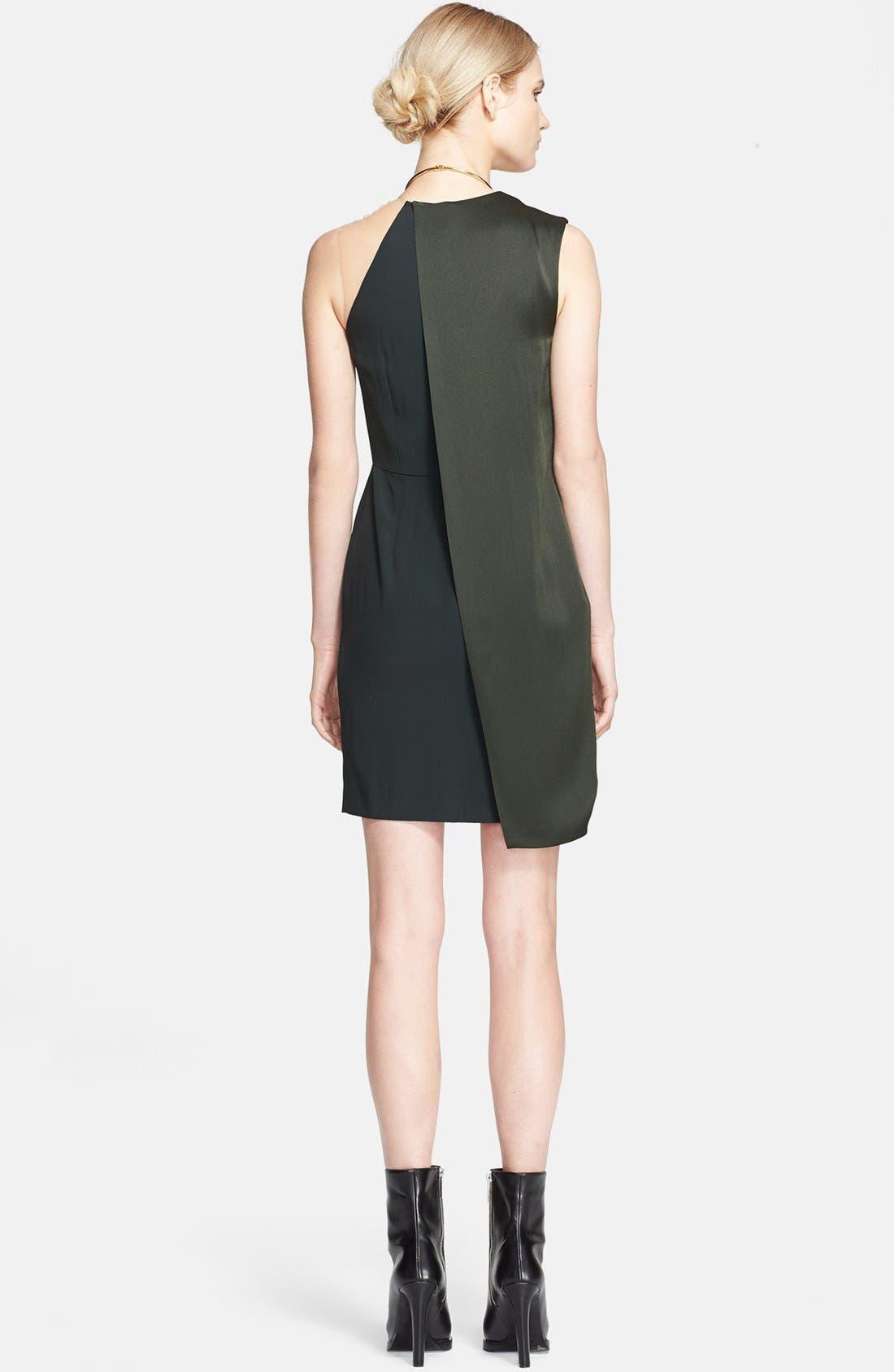 Alternate Image 2  - Stella McCartney Sable Crepe & Satin Dress with Neck Hardware