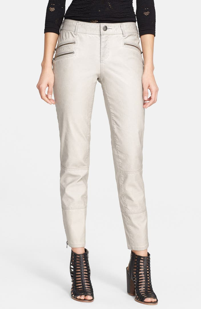 Free people ankle zip faux leather skinny pants nordstrom for Define faux leather