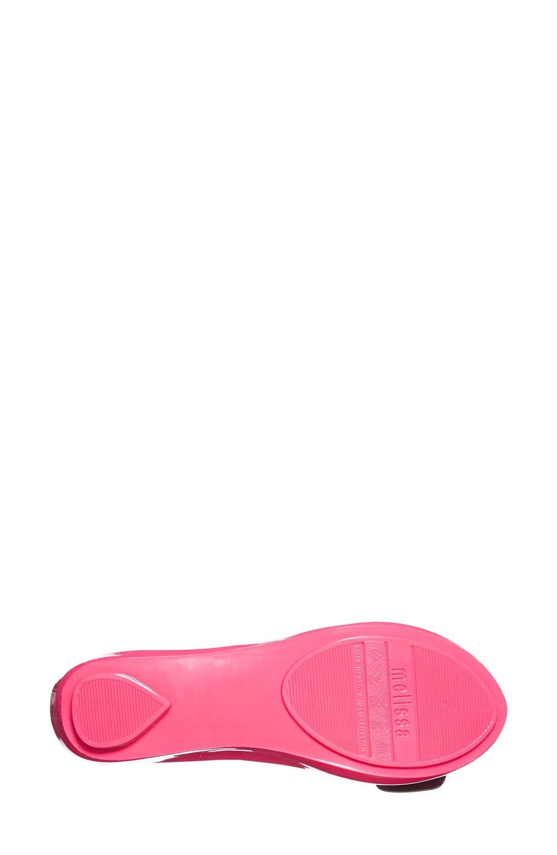 Alternate Image 4  - Melissa + Karl Lagerfeld 'Ultragirl' Jelly Flat