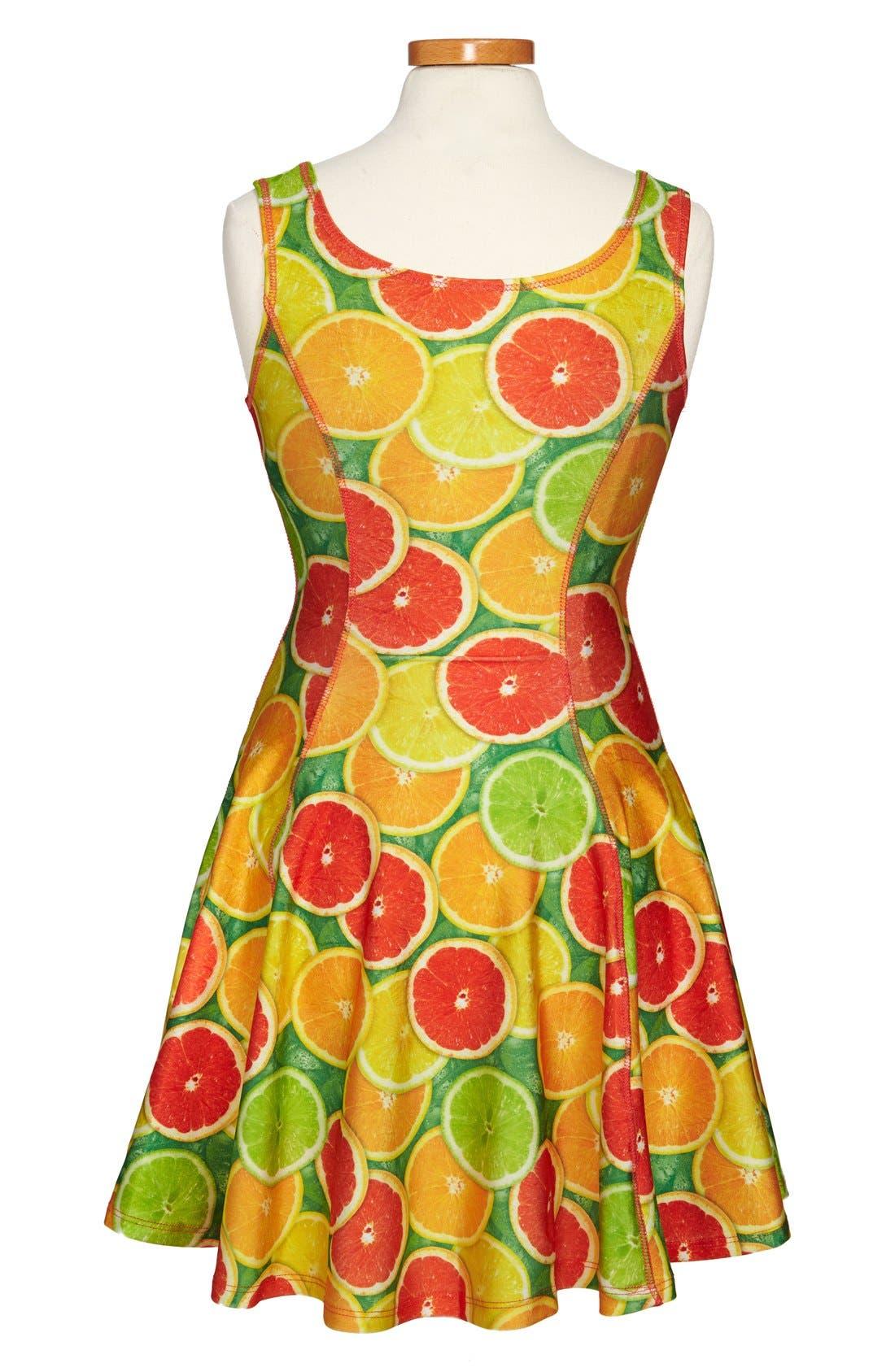 Alternate Image 2  - Terez 'Citrus' Skater Dress (Big Girls)