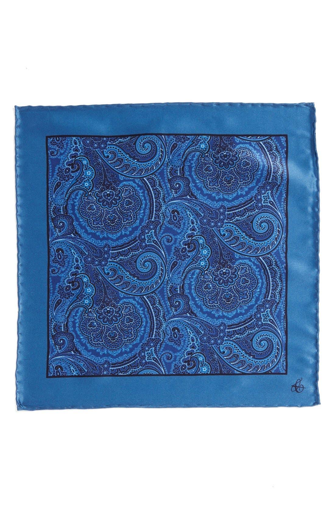 Alternate Image 3  - Canali Silk Pocket Square