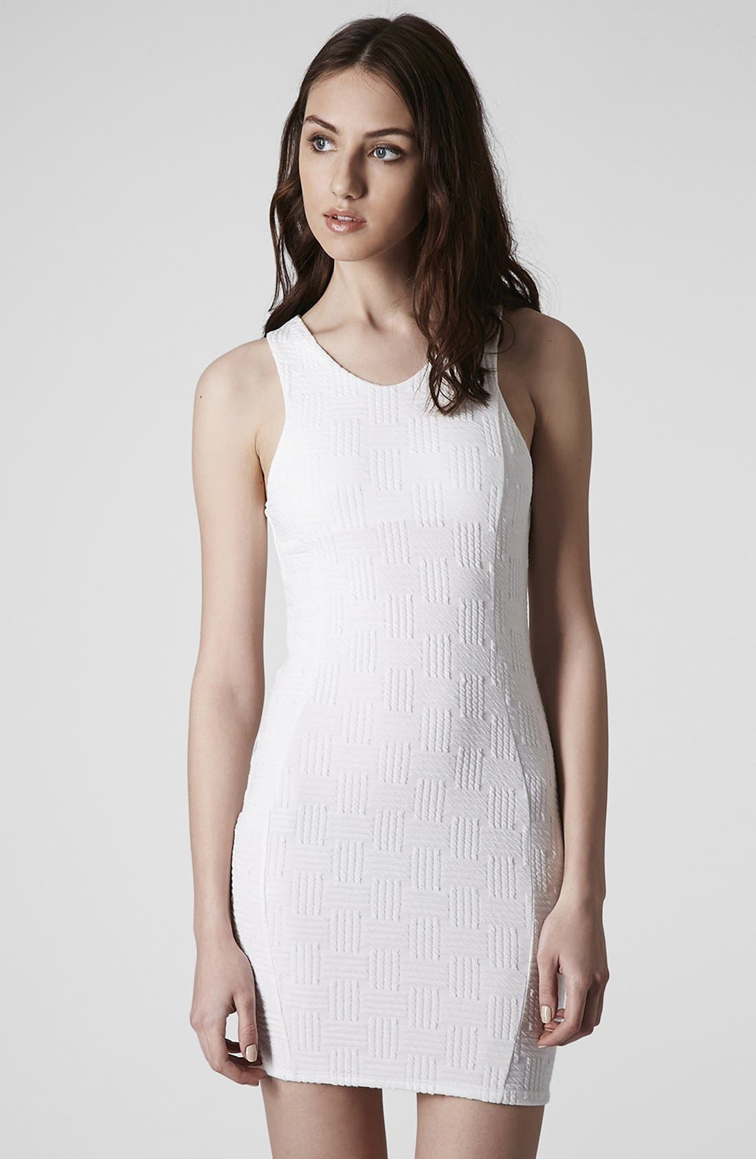 Alternate Image 1 Selected - Topshop Jacquard Body-Con Dress (Petite)