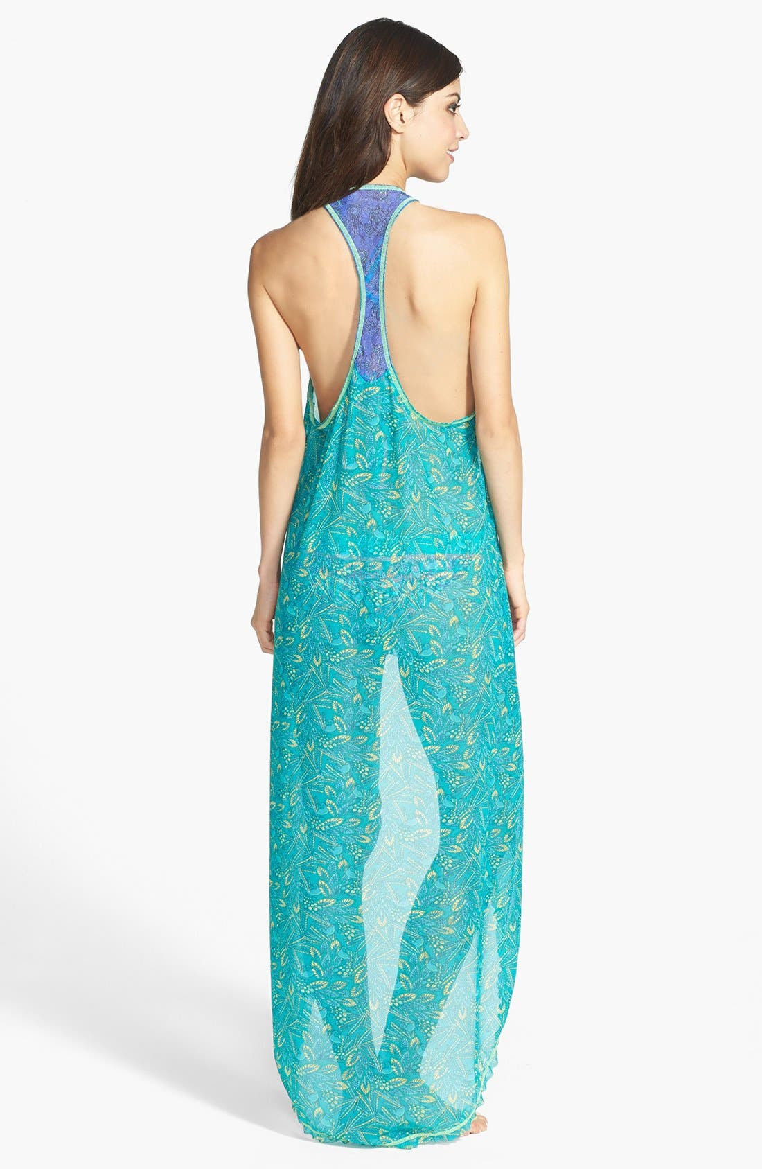 Alternate Image 2  - Maaji 'Darling Sparrow' High/Low Cover-Up Dress (Nordstrom Exclusive)