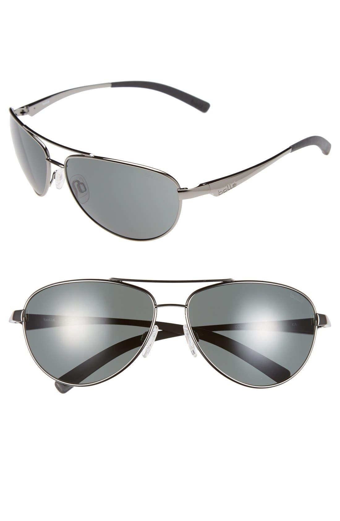 Main Image - Bolle 'Columbus' 62mm Aviator Sunglasses