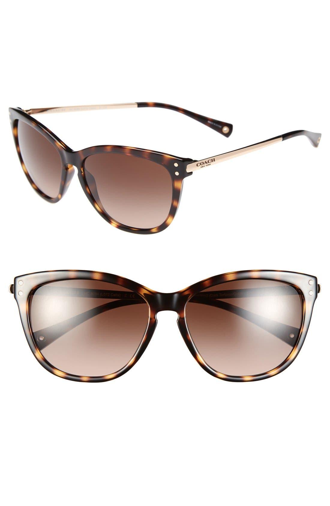 Alternate Image 1 Selected - COACH 'Celia' 57mm Cat Eye Sunglasses