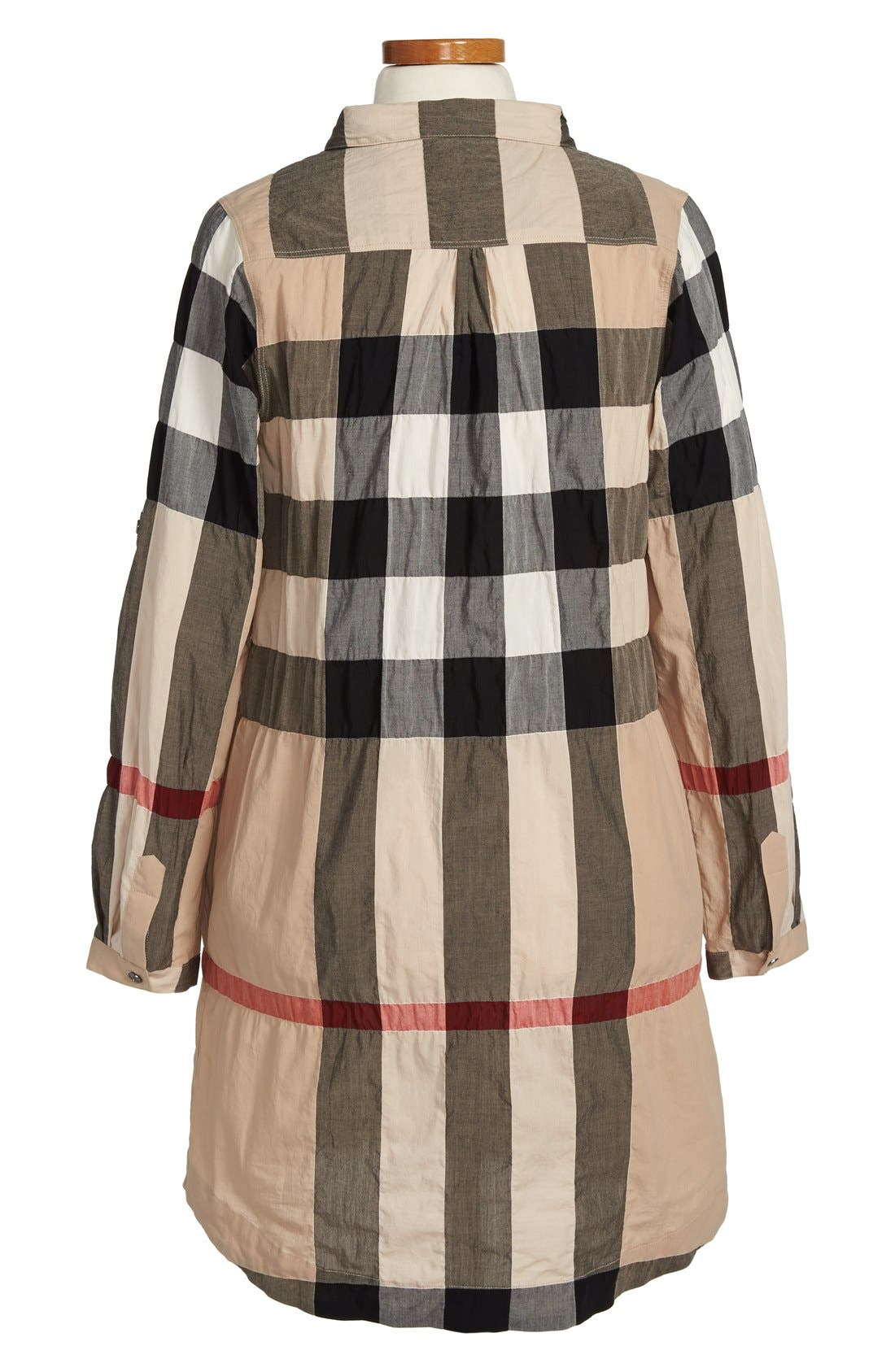 Alternate Image 2  - Burberry Check Print Shirtdress (Little Girls & Big Girls)