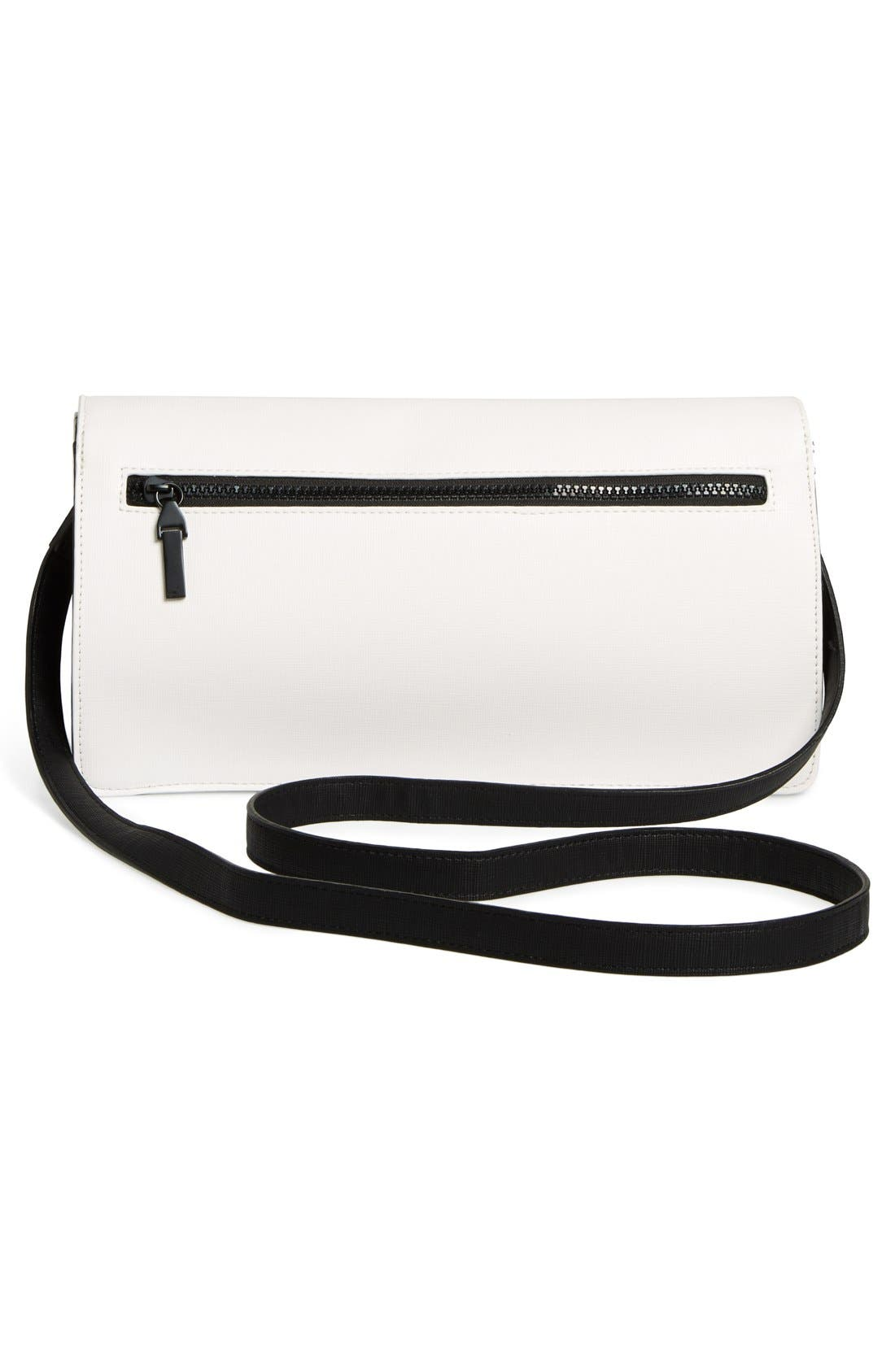 Alternate Image 4  - French Connection 'Prim Lady' Faux Leather Clutch