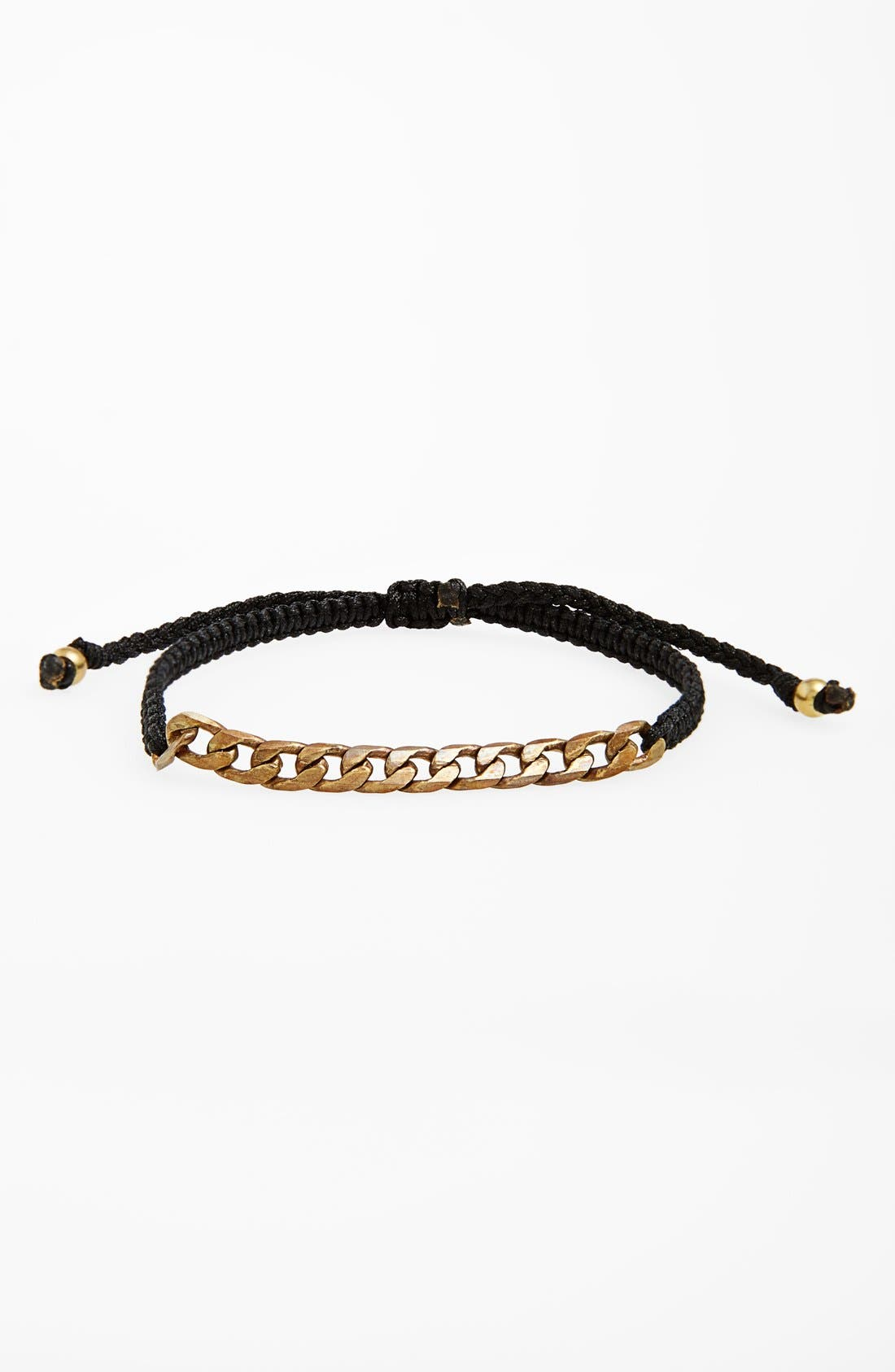 Main Image - Max Reed Brass Chain Inset Nylon Cord Bracelet