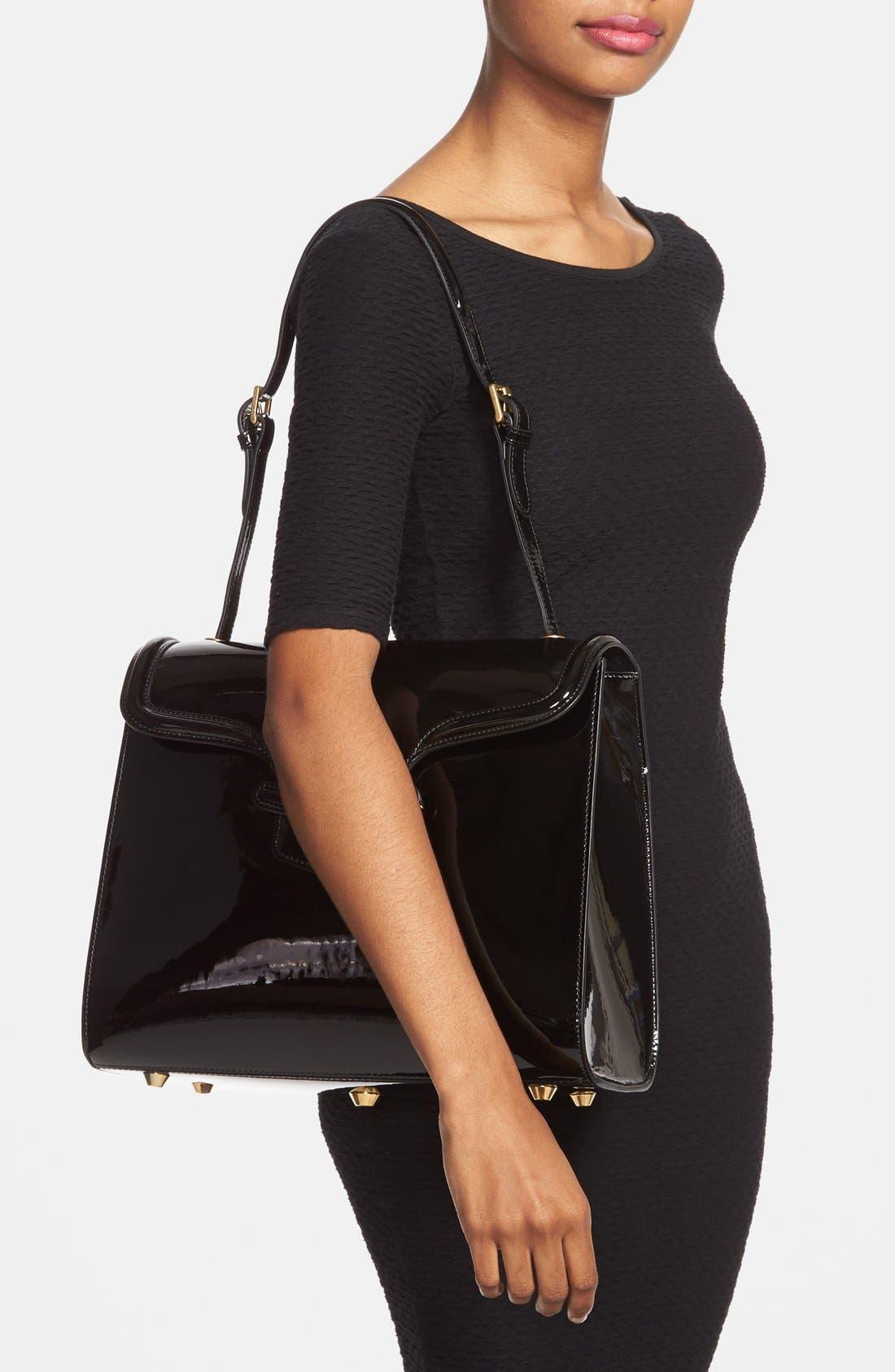 Alternate Image 2  - Alexander McQueen 'Heroine' Patent Leather Shoulder Bag