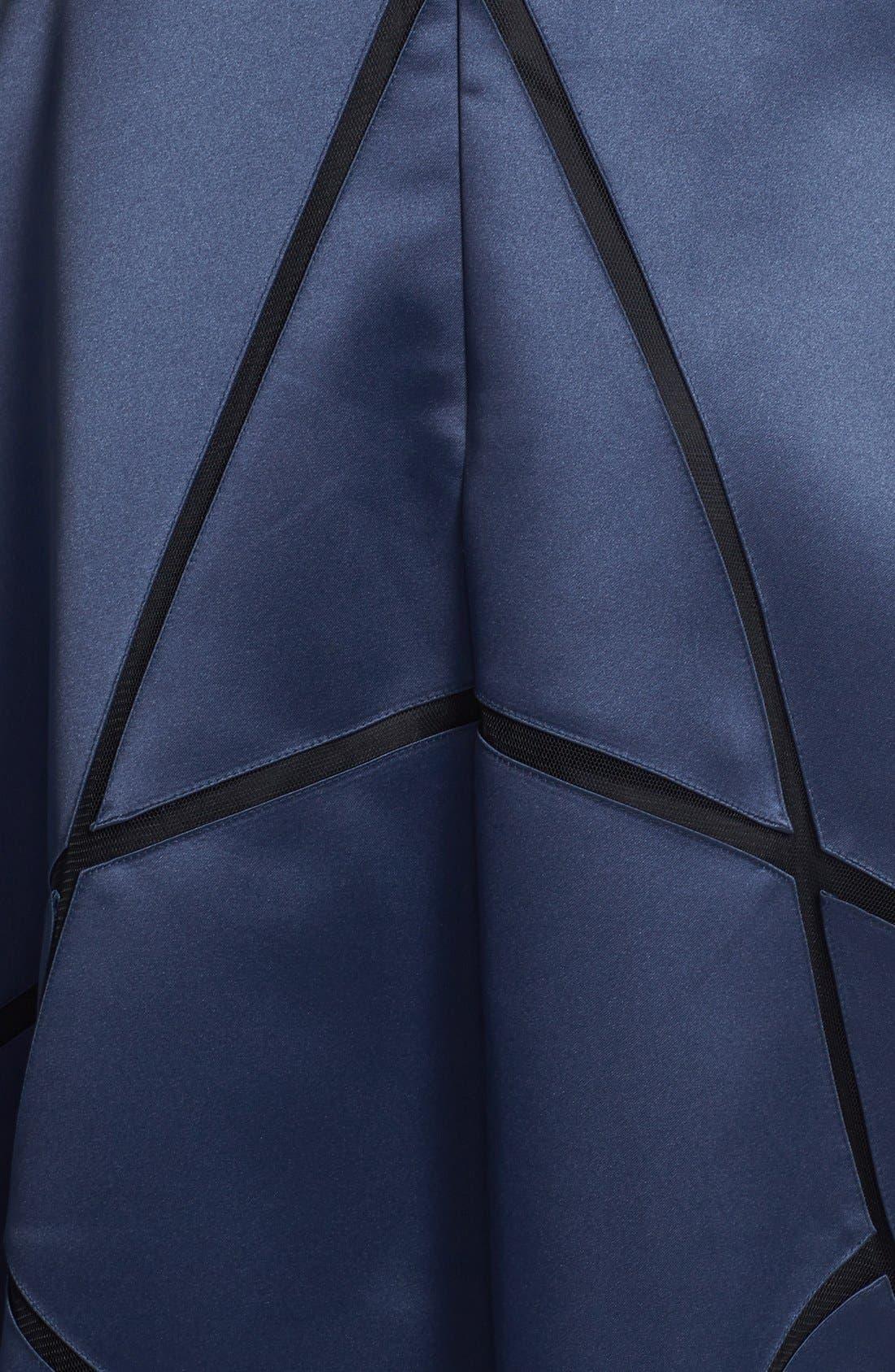 Alternate Image 3  - Aidan Mattox Illusion Neck Seam Detail Satin Gown