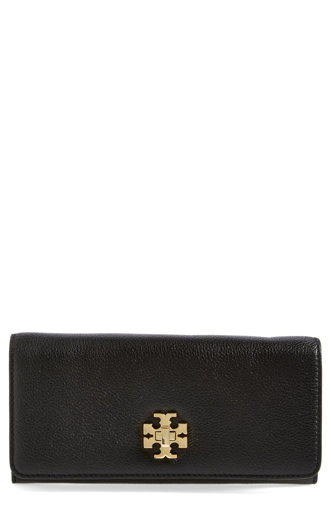 Alternate Image 1 Selected - Tory Burch 'Mercer' Leather Envelope Wallet