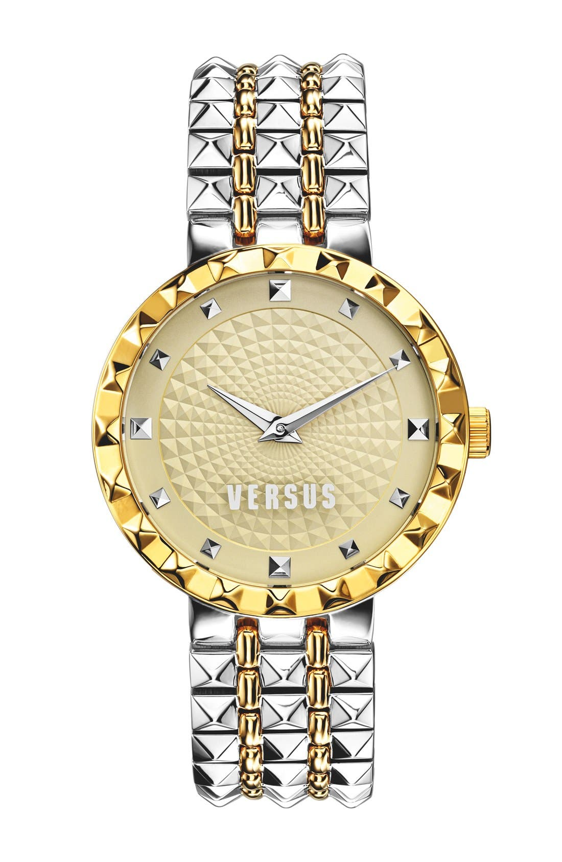 Main Image - VERSUS by Versace 'Coral Gables' Studded Bracelet Watch, 36mm