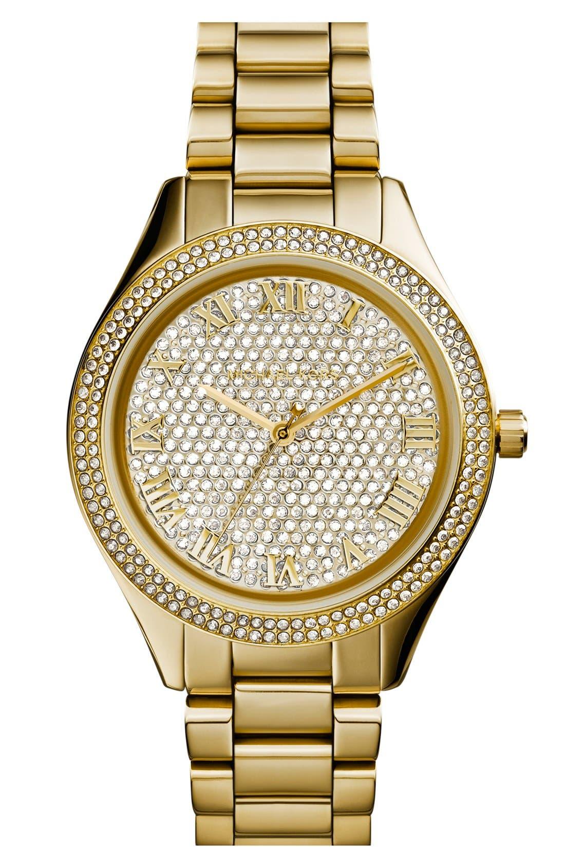 Main Image - Michael Kors 'Blake' Pavé Dial Bracelet Watch, 39mm (Nordstrom Exclusive)