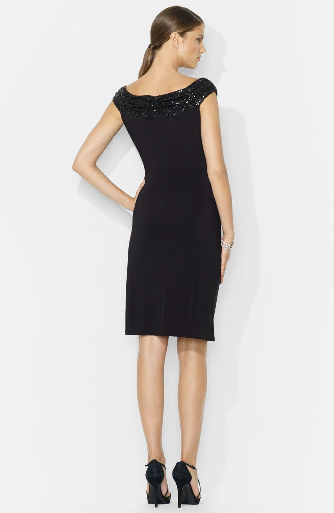 Alternate Image 2  - Lauren Ralph Lauren Sequin Sheath Dress