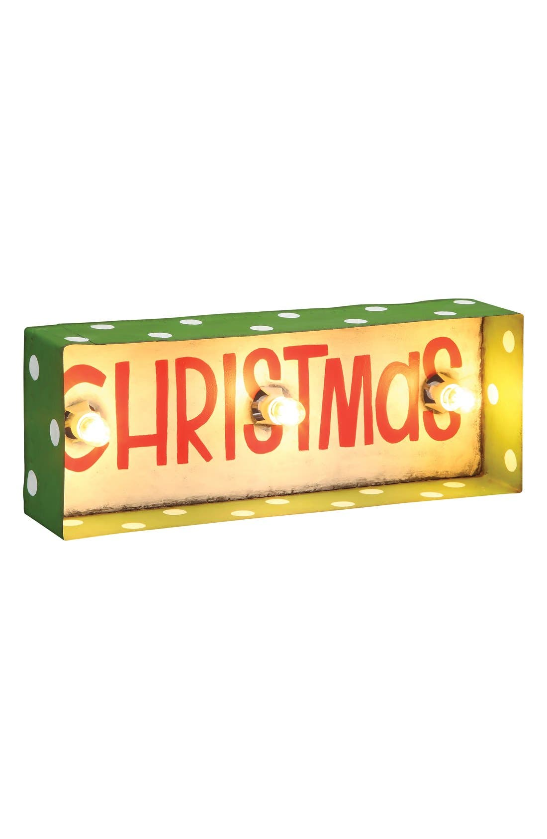 Alternate Image 1 Selected - Roman 'Christmas' Lighted Box Sign
