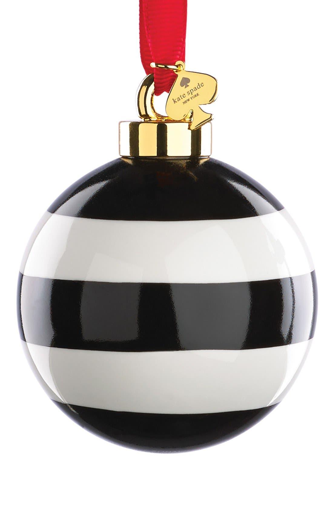 Alternate Image 1 Selected - kate spade new york stripe globe ornament
