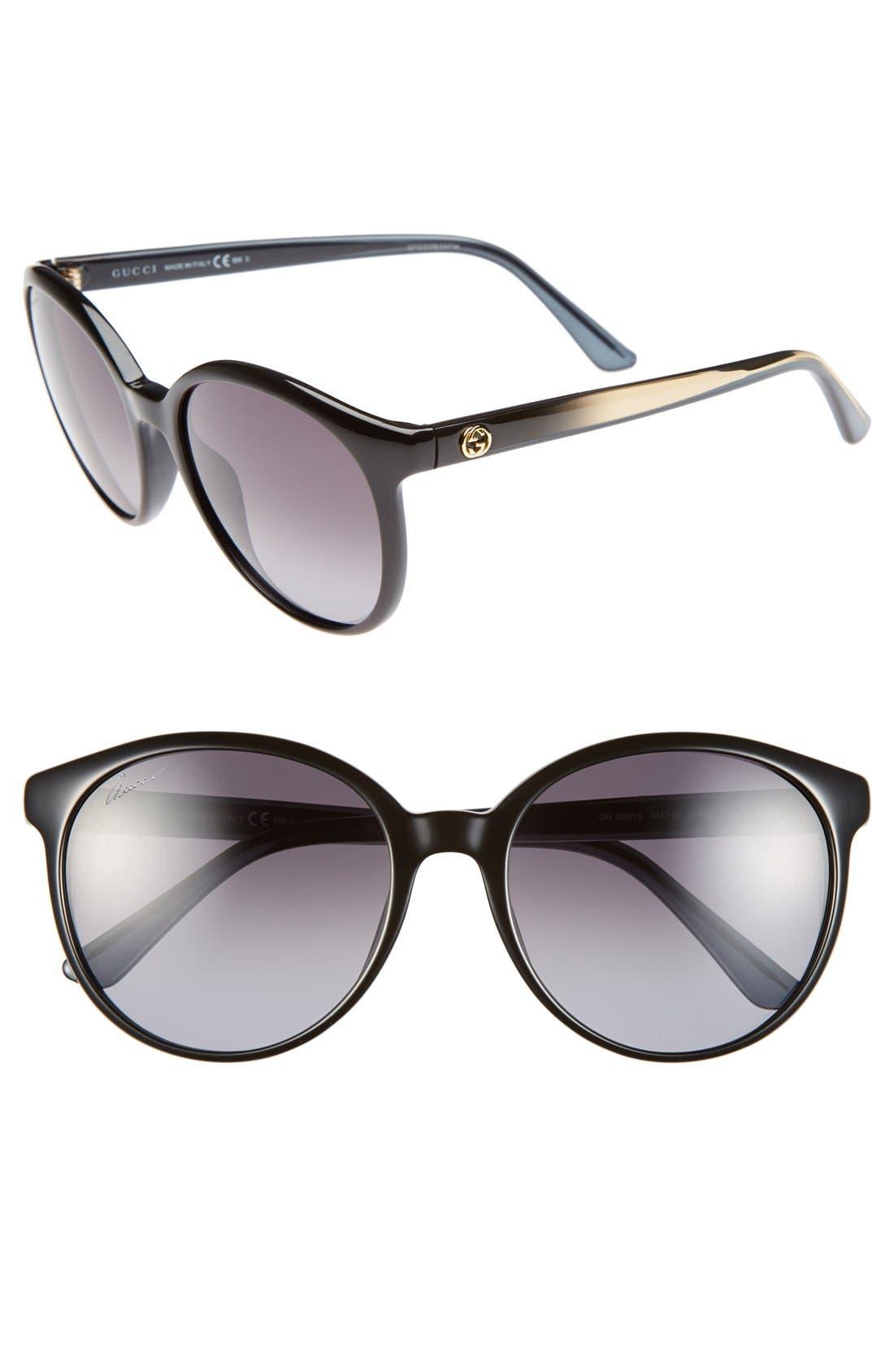 Alternate Image 1 Selected - Gucci 56mm Retro Sunglasses