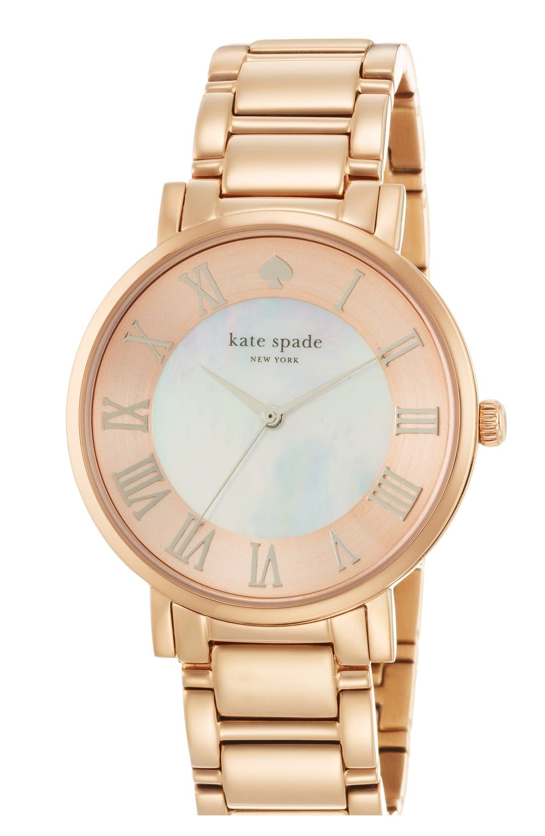 Main Image - kate spade new york 'gramercy grand' round bracelet watch, 38mm