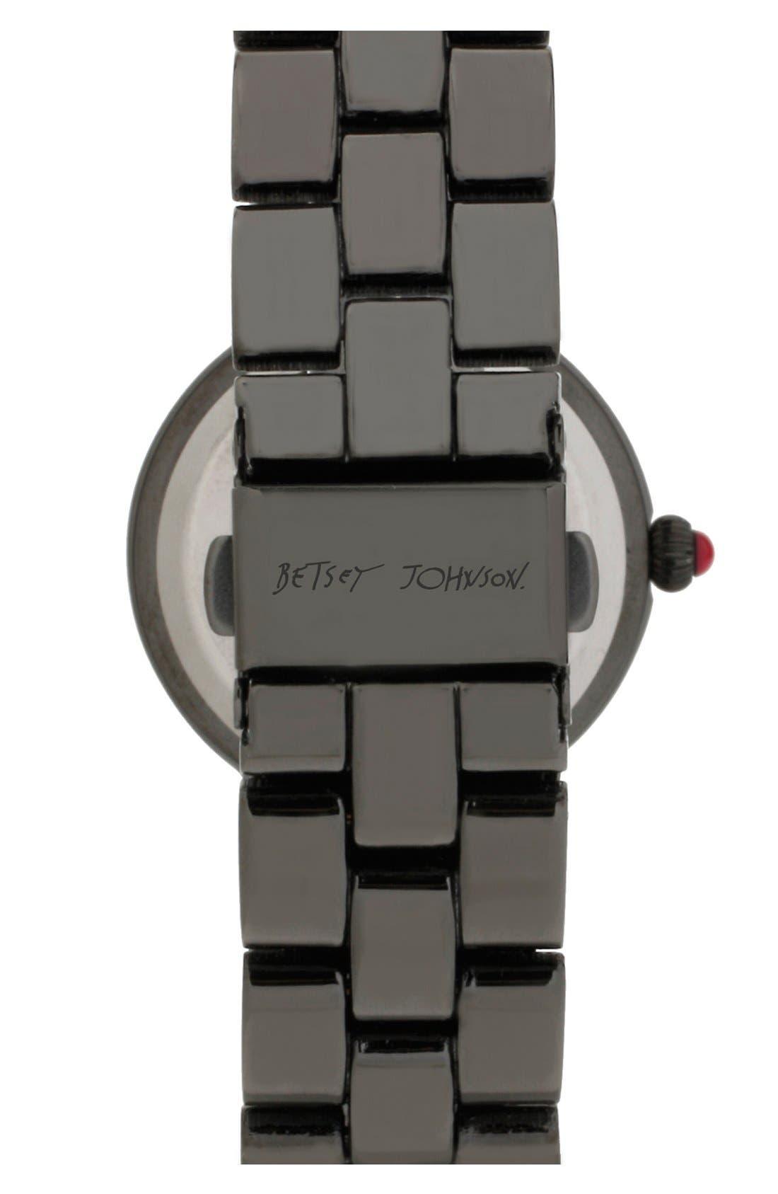 Alternate Image 2  - Betsey Johnson Round Bracelet Watch, 33mm