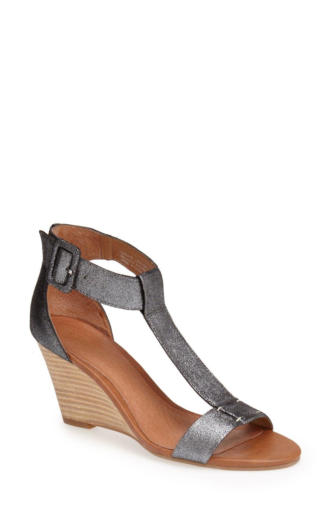 Alternate Image 1 Selected - Caslon® 'Ramona' T-Strap Wedge Sandal