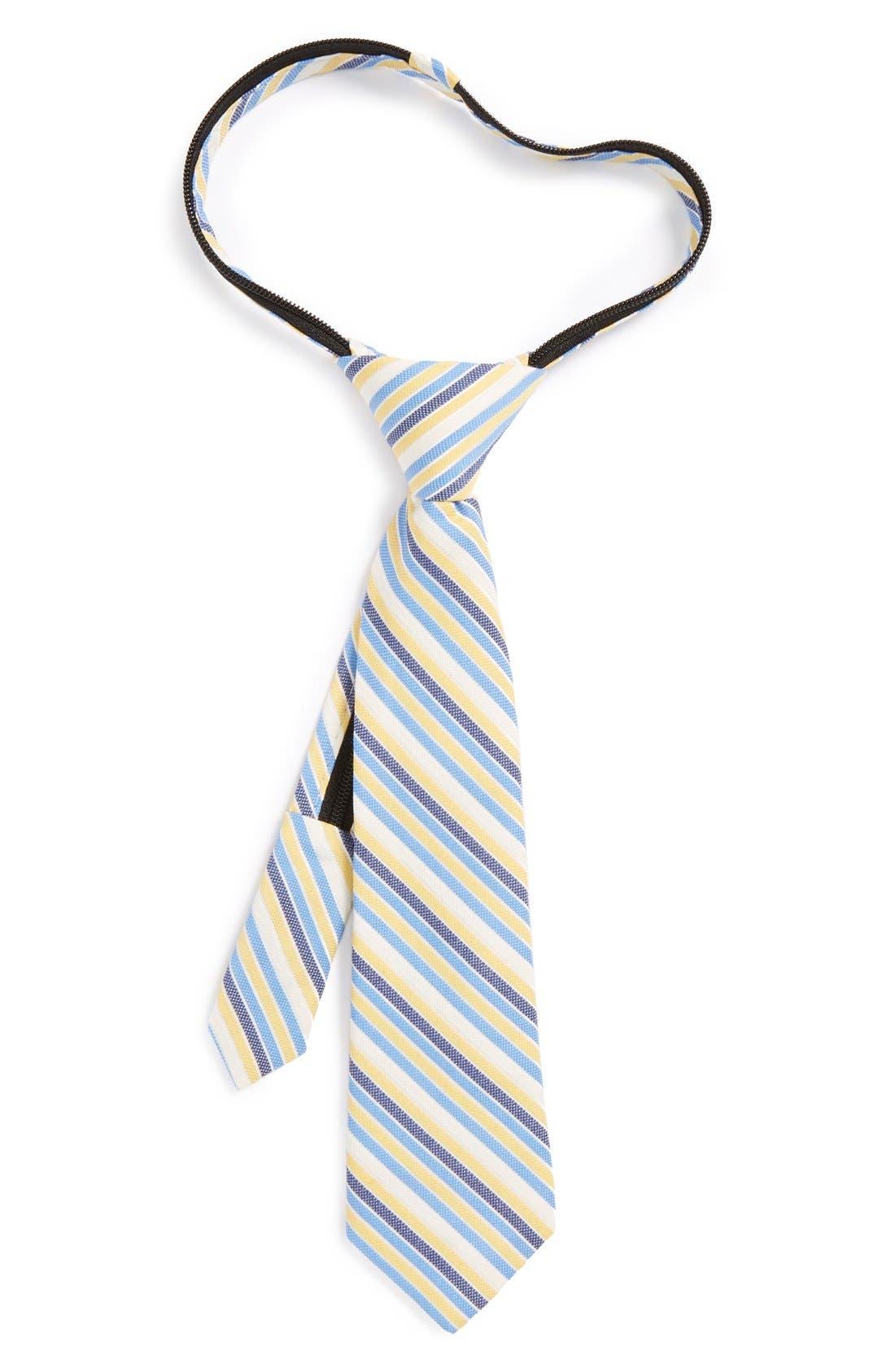 Main Image - Nordstrom Cotton & Silk Zipper Tie (Little Boys)