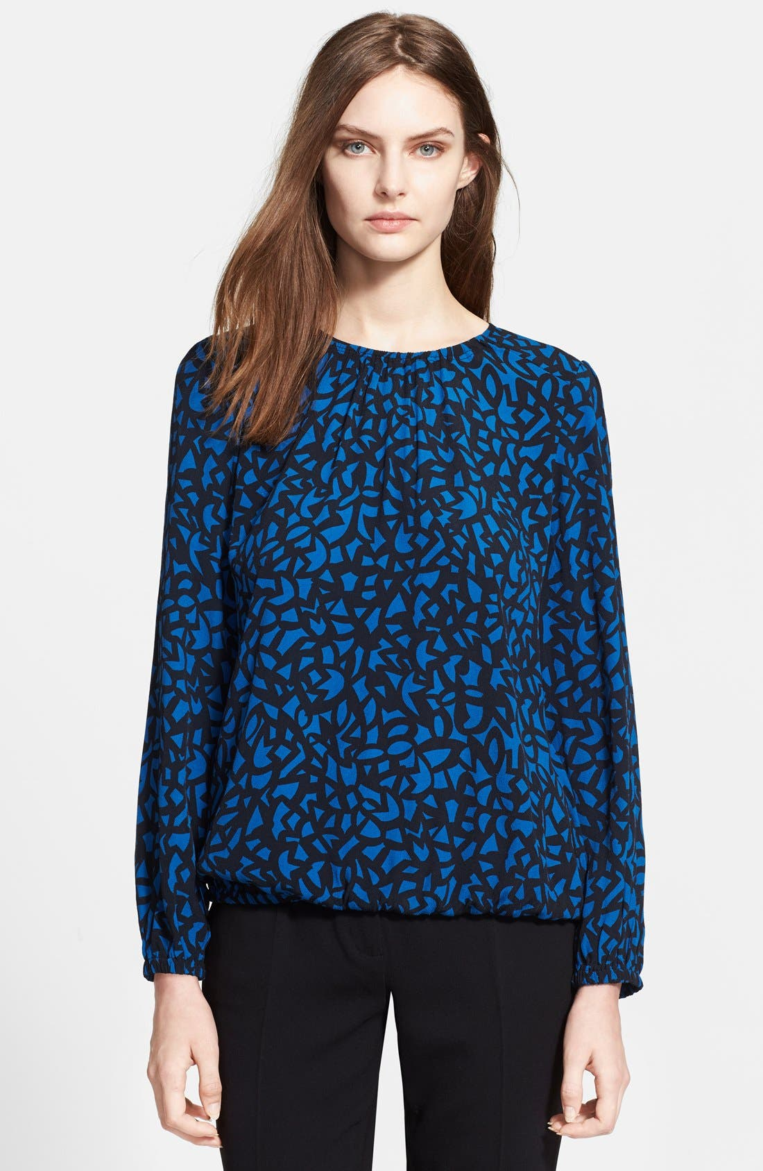 Alternate Image 1 Selected - Burberry Brit Print Shirred Neck Blouse