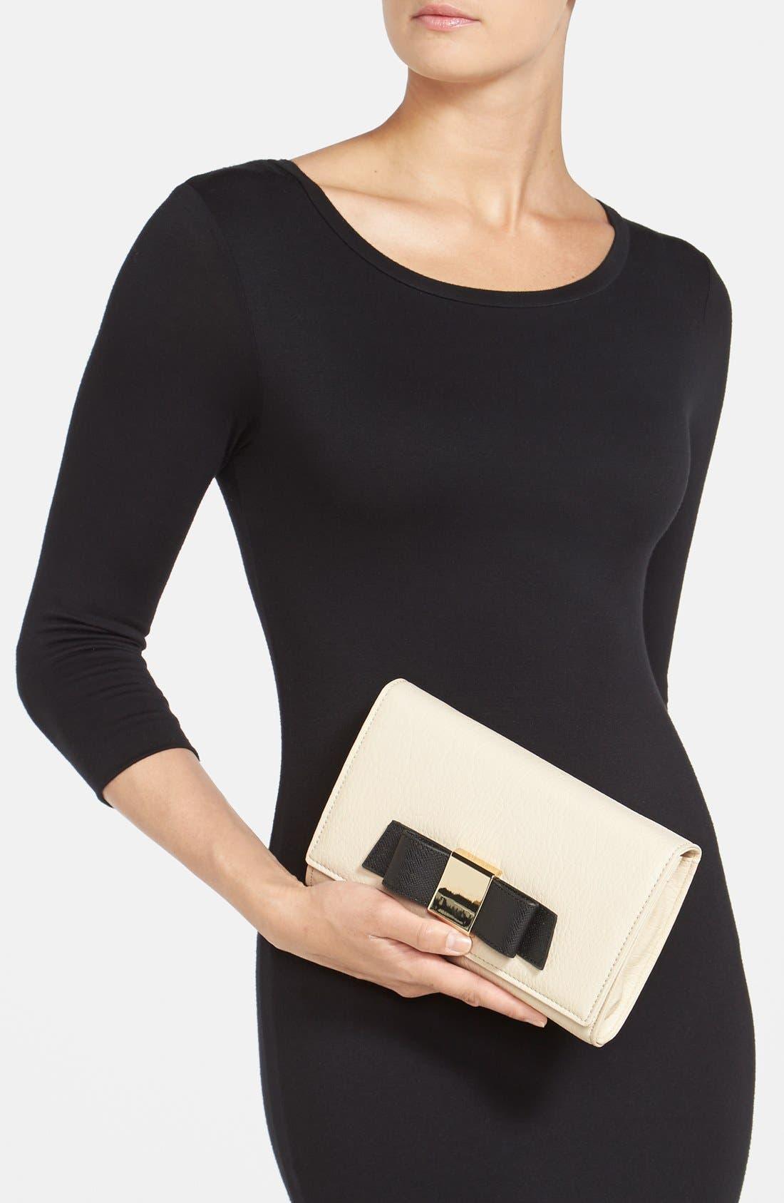 Alternate Image 2  - Ivanka Trump 'Blair' Faux Leather Bow Clutch
