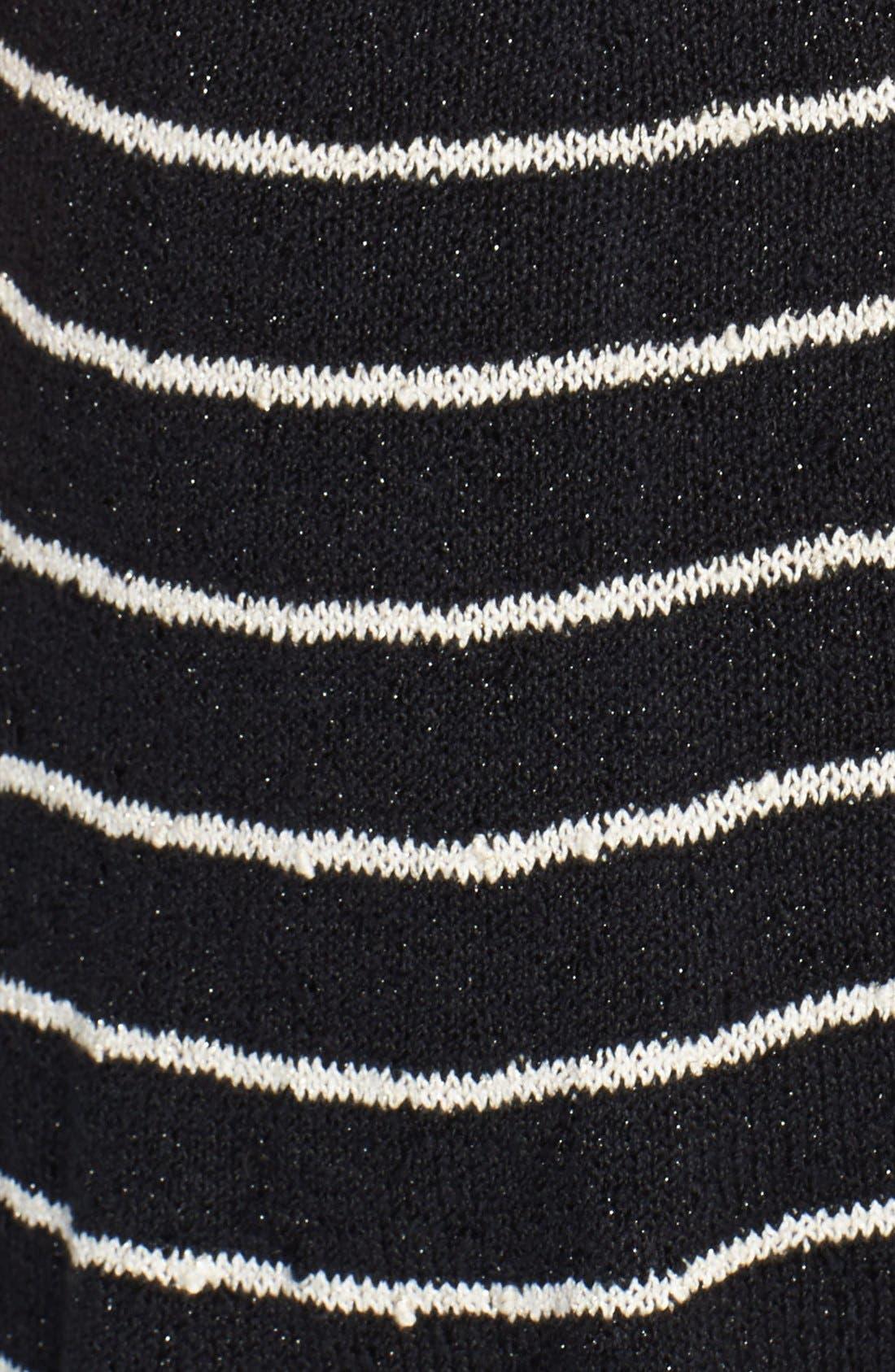 Alternate Image 3  - Alice + Olivia 'Monah' Stripe Fit & Flare Sweater Dress