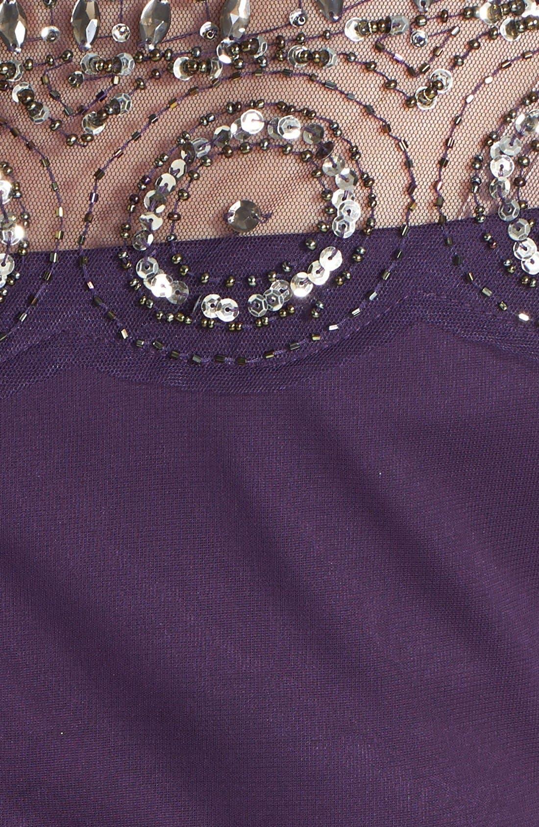 Alternate Image 3  - Xscape Beaded Ruched Dress (Plus Size)
