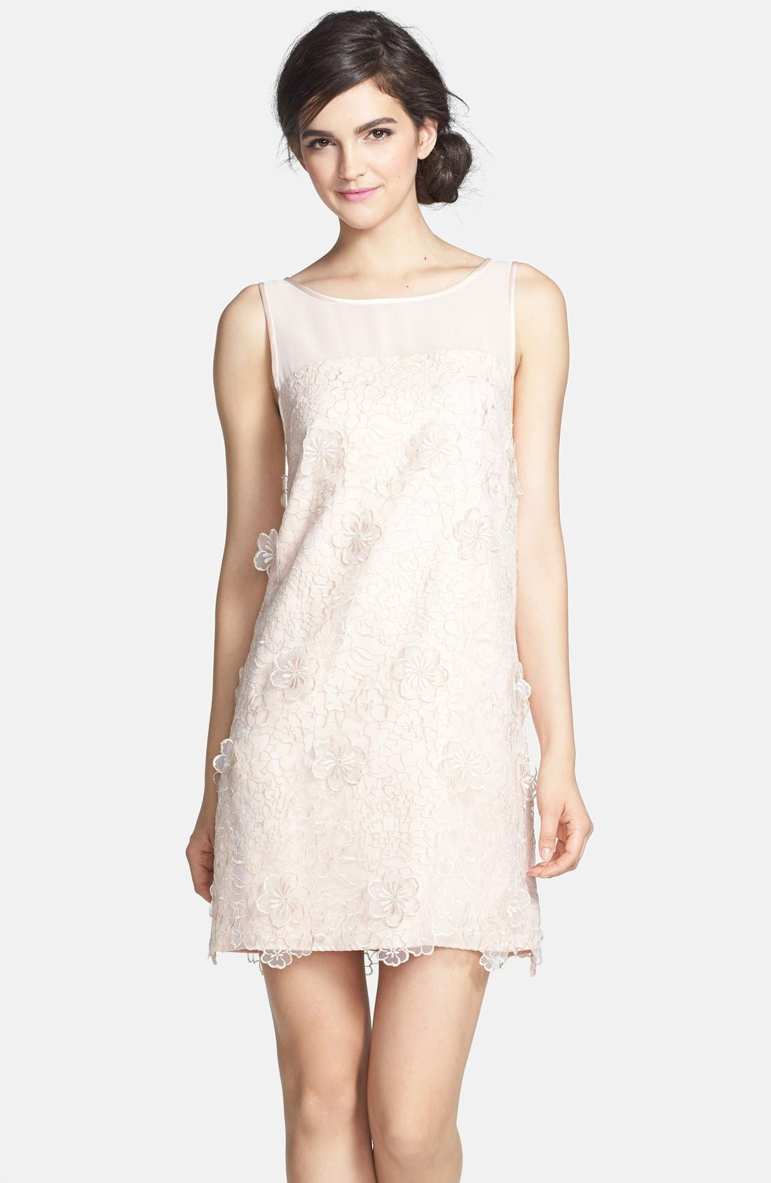 Main Image - ERIN erin fetherston 'Faye' Embroidered Organza Shift Dress