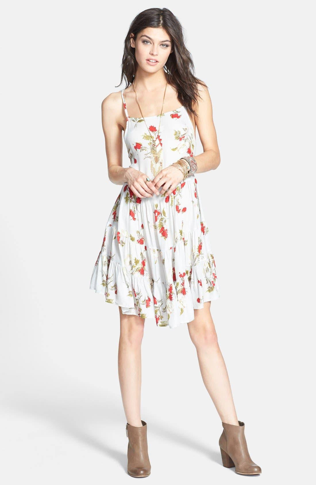 Alternate Image 3  - Free People Flower Print Slipdress